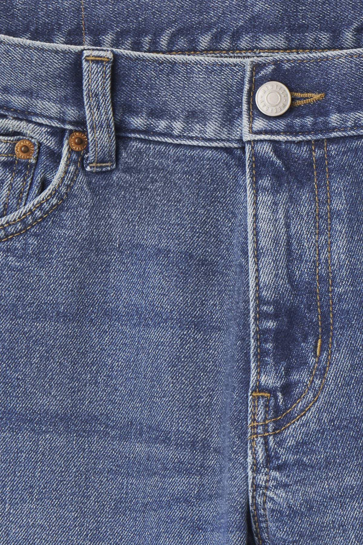 Detailed image of Weekday friday cricket blue jeans in blue