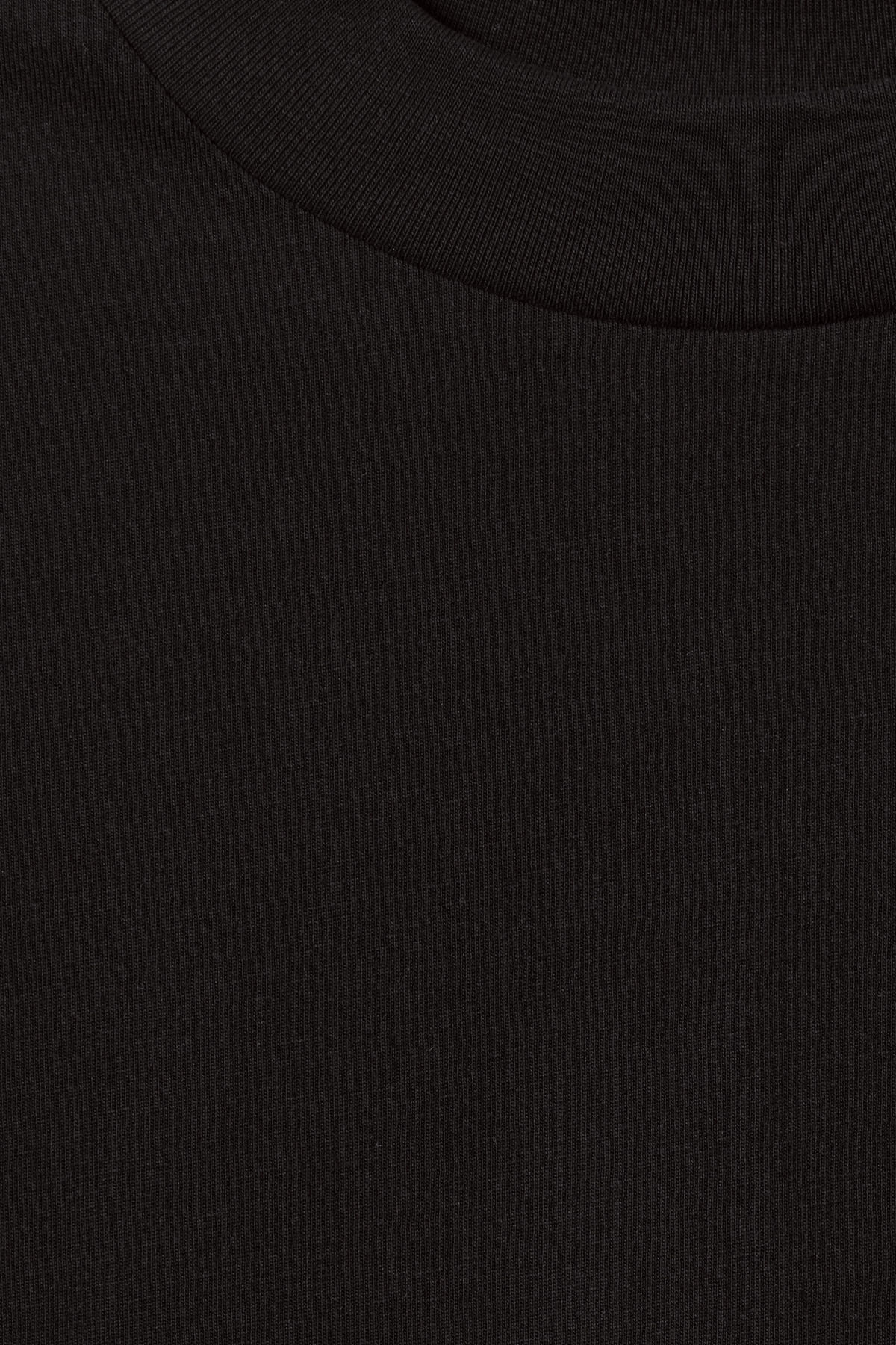 Detailed image of Weekday prime t-shirt in black