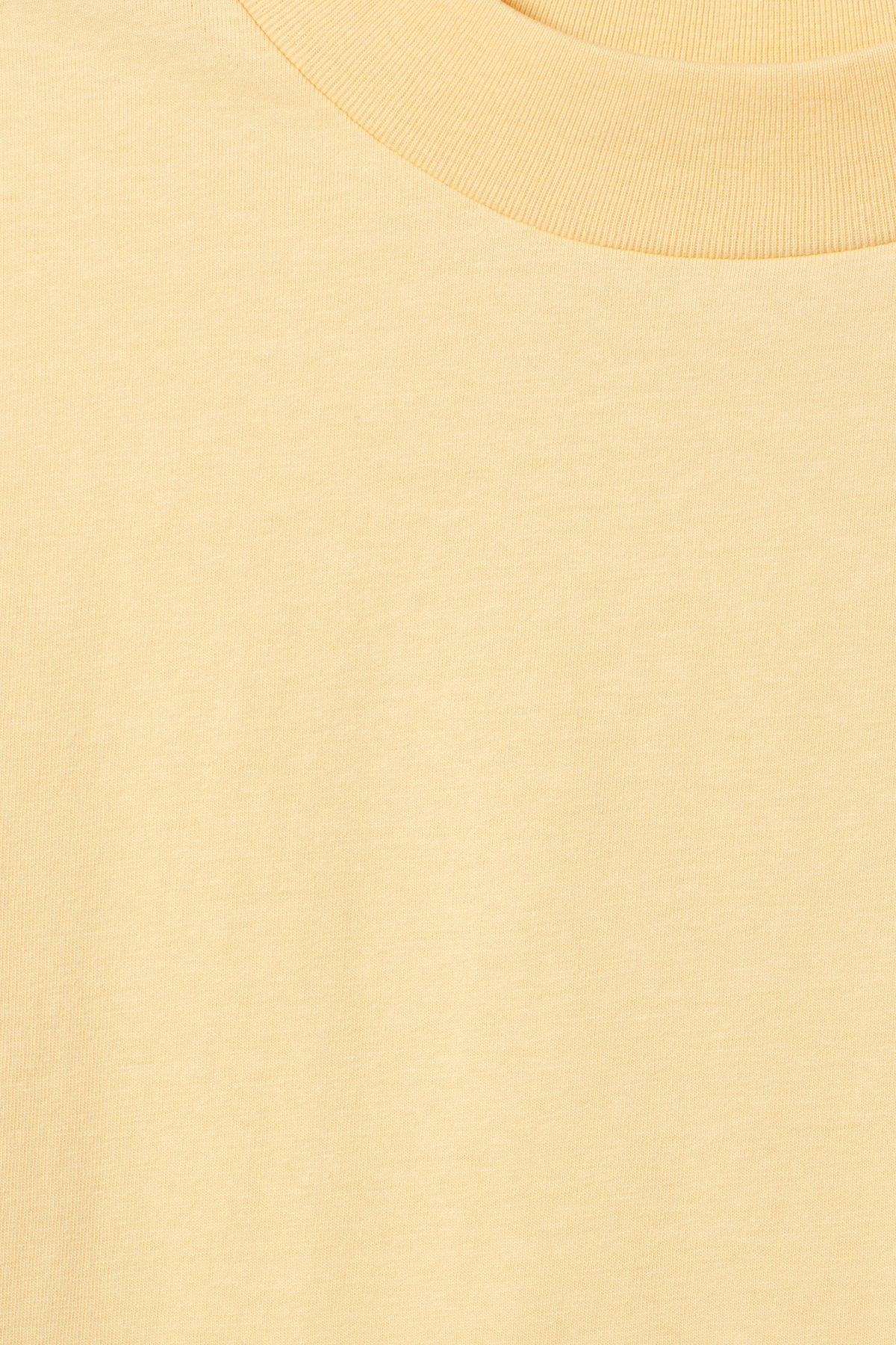Detailed image of Weekday prime t-shirt in yellow