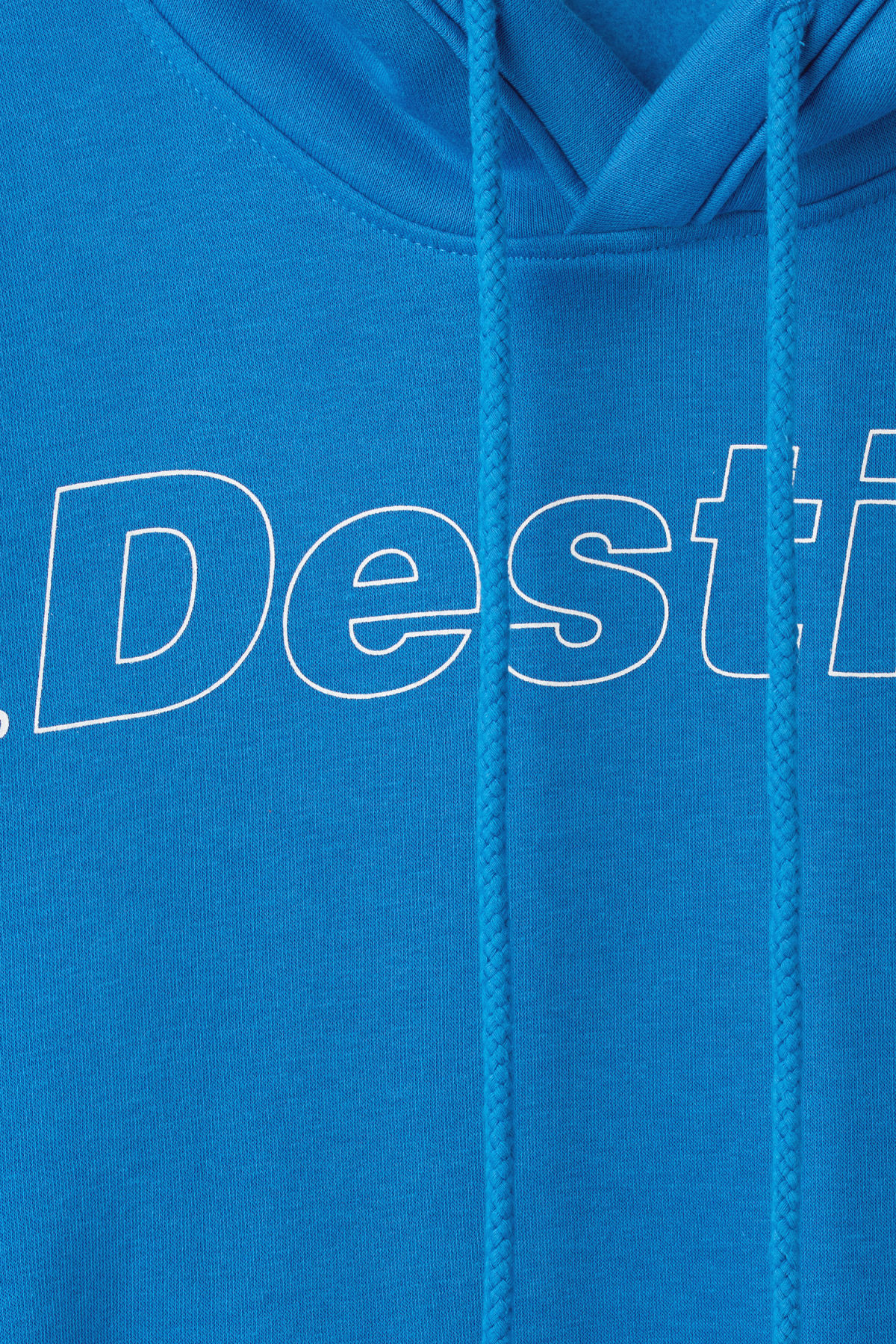 Detailed image of Weekday ailin printed hoodie in blue
