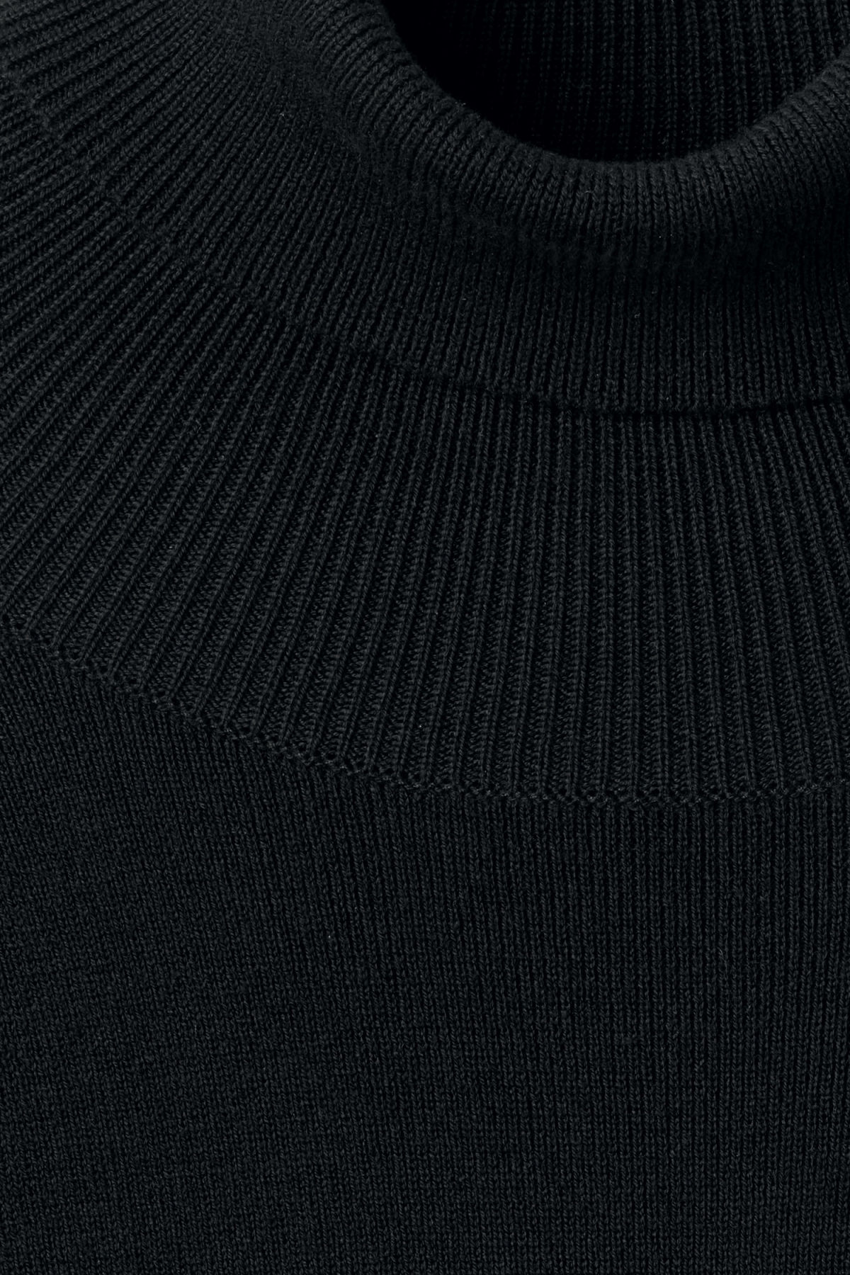 Detailed image of Weekday trey turtleneck sweater in black