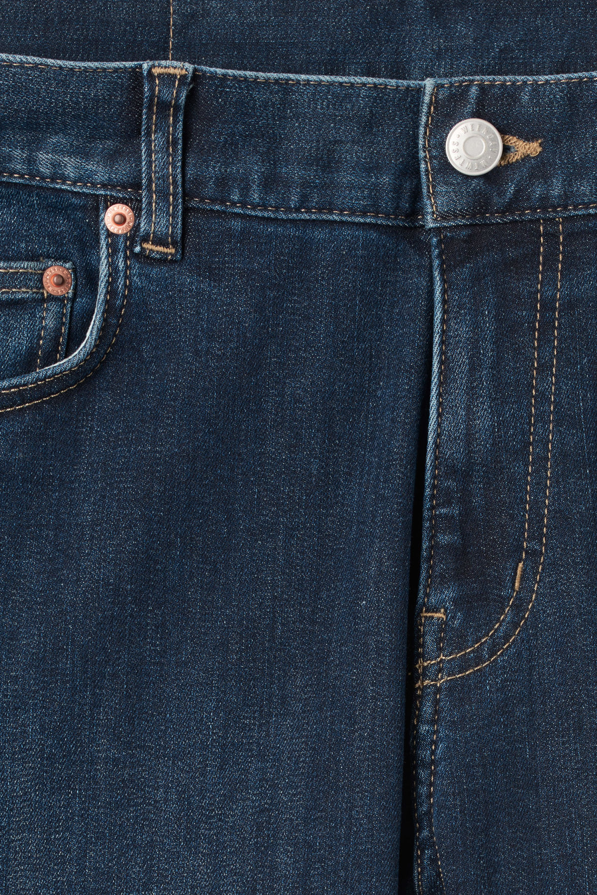 Detailed image of Weekday form sun jeans in blue