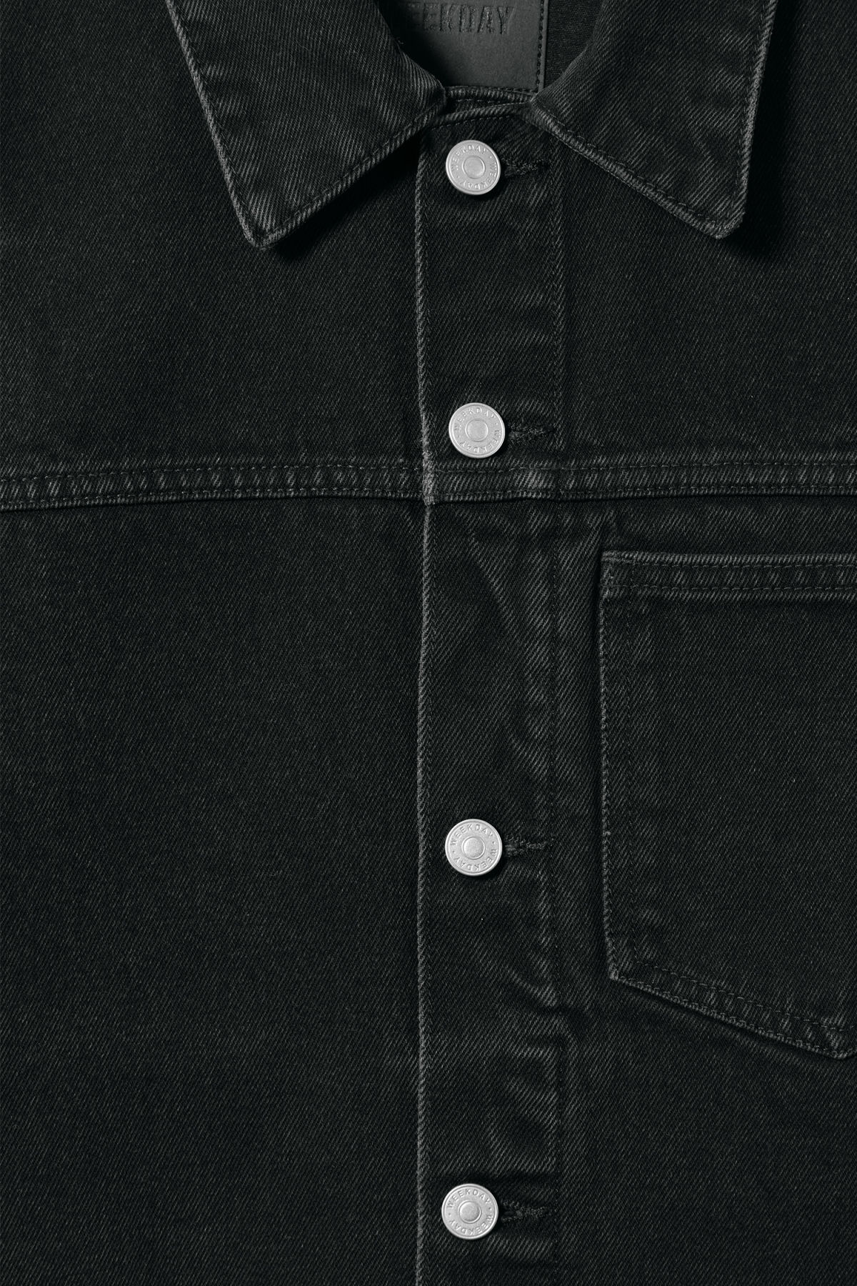 Detailed image of Weekday core denim jacket  in black
