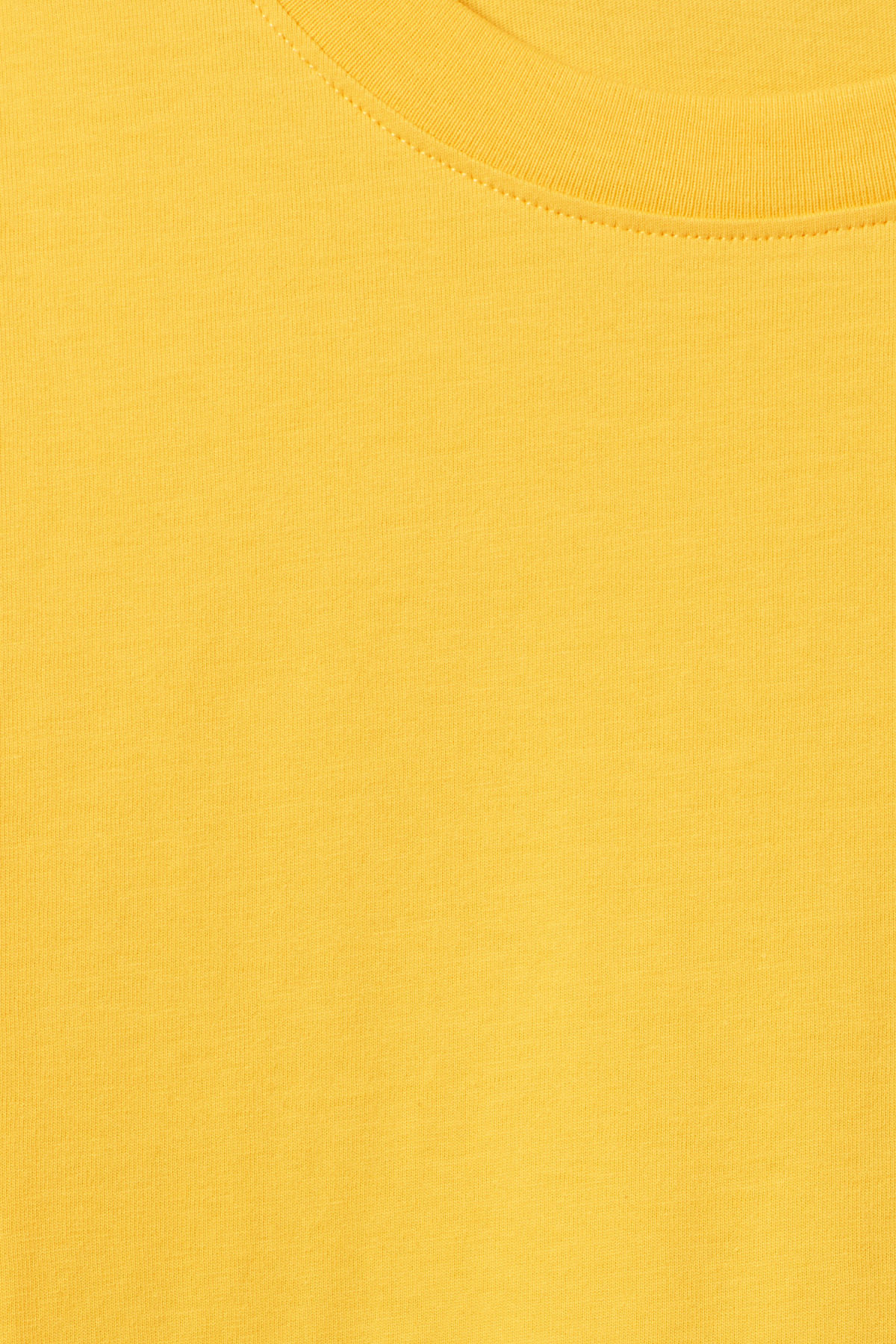 Detailed image of Weekday frank t-shirt in yellow