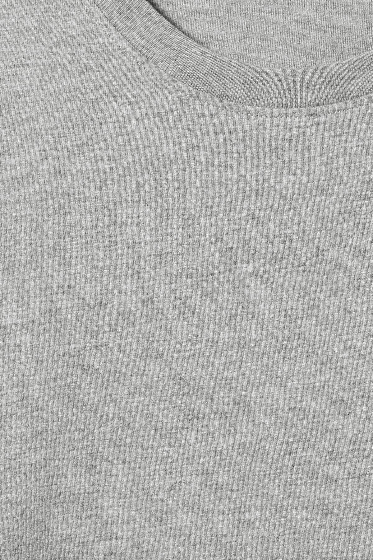 Detailed image of Weekday frank t-shirt in grey