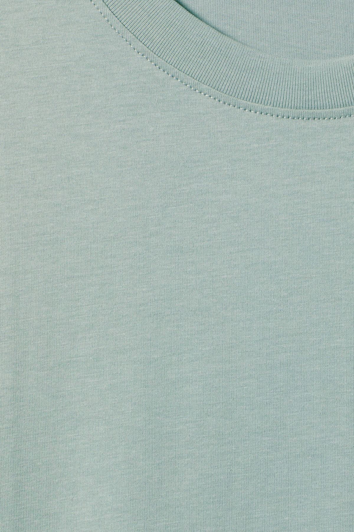 Detailed image of Weekday frank t-shirt in turquoise