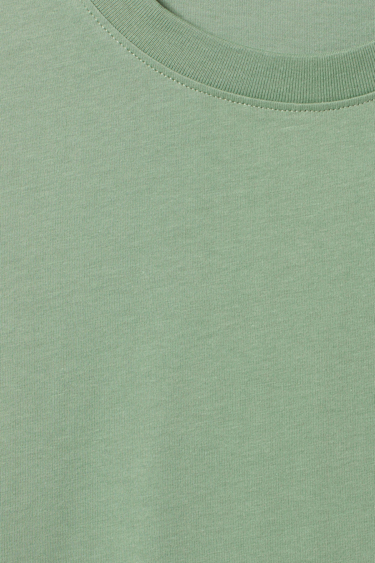 Detailed image of Weekday frank t-shirt in green