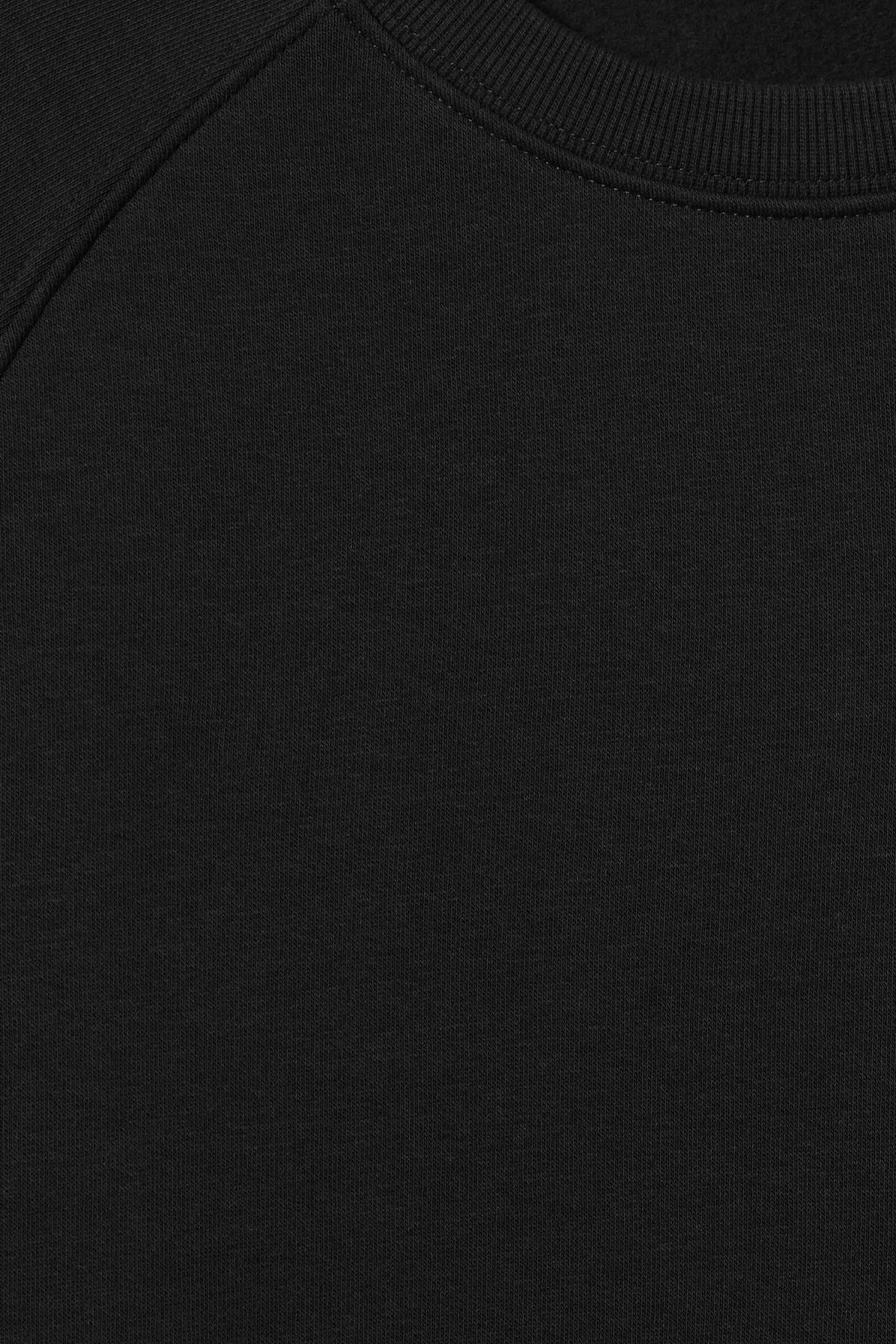 Detailed image of Weekday paris sweatshirt in black