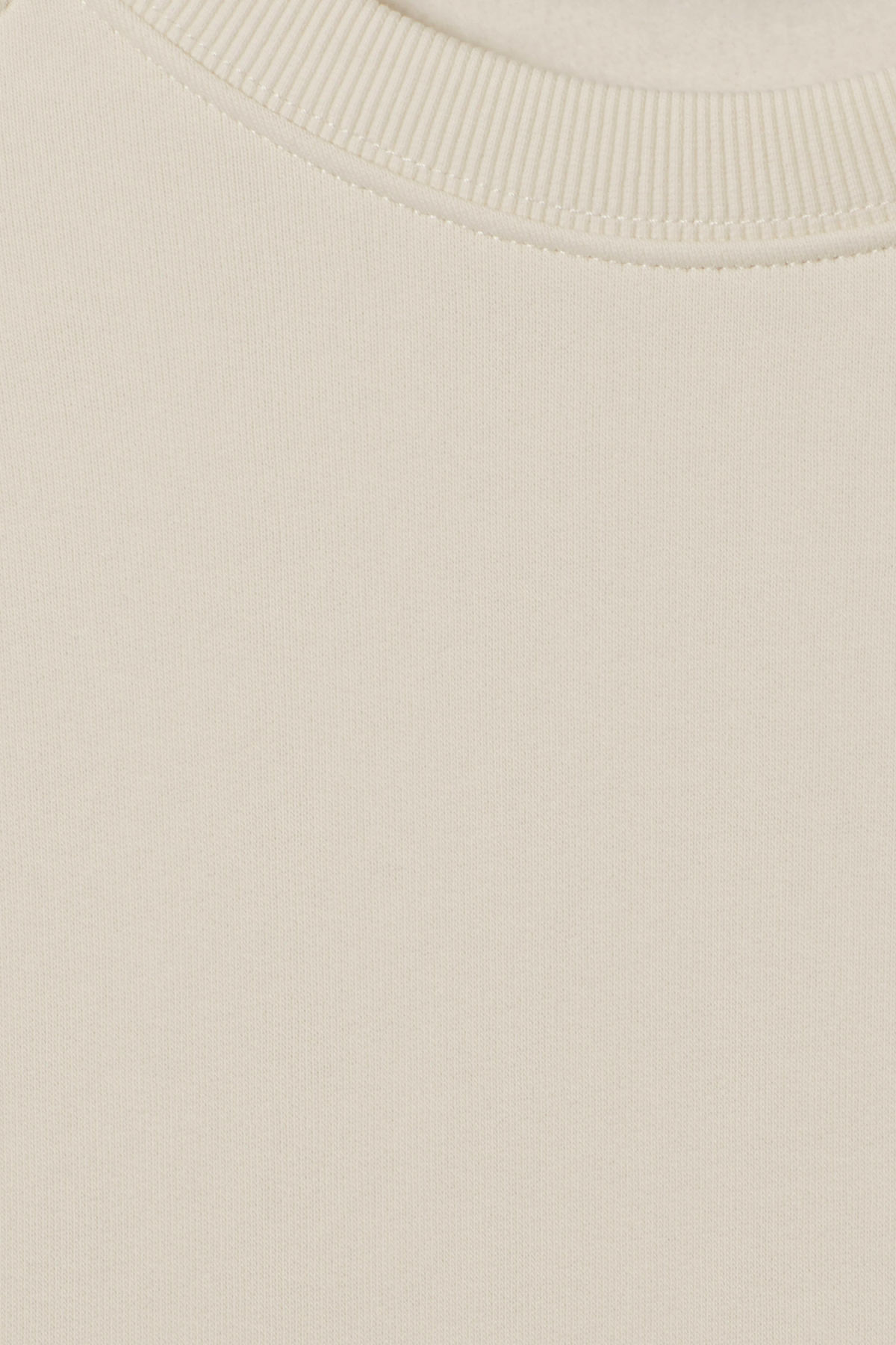 Detailed image of Weekday paris sweatshirt in white