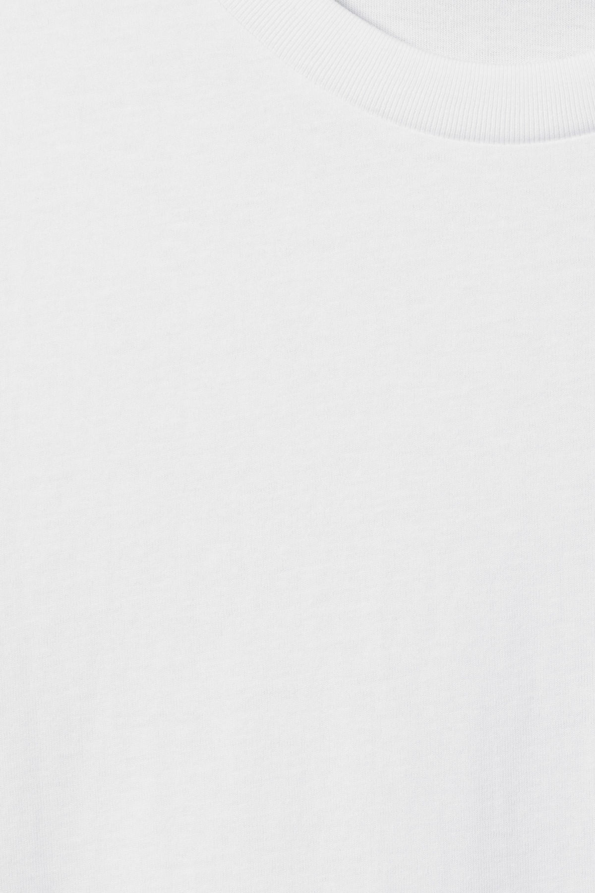 Detailed image of Weekday alan t-shirt in white