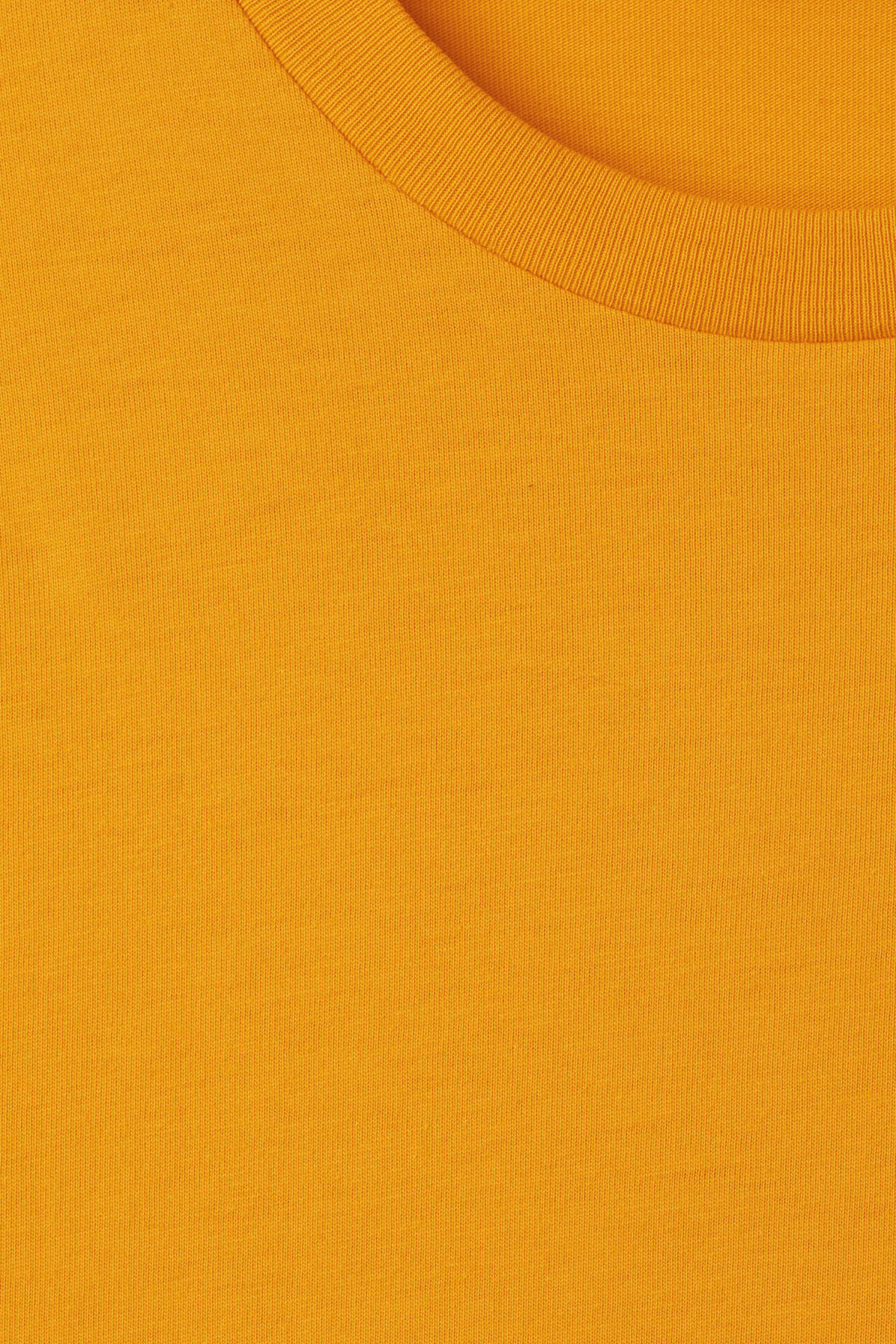 Detailed image of Weekday alan t-shirt in yellow