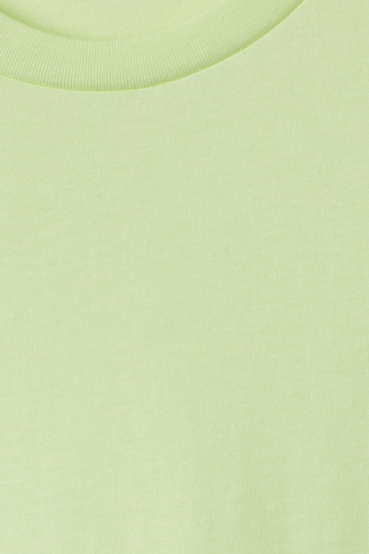 Detailed image of Weekday alan t-shirt in green