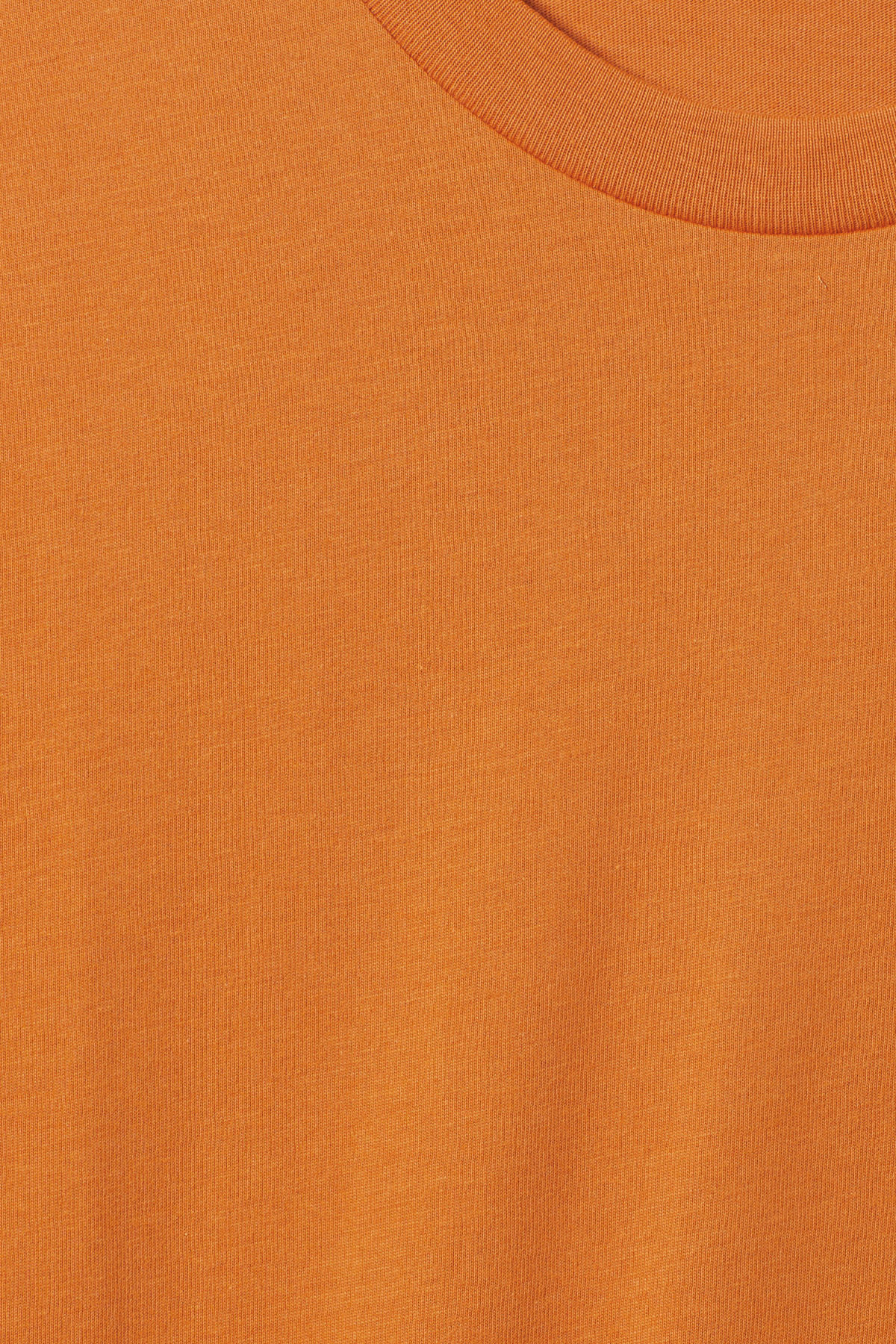 Detailed image of Weekday alan t-shirt in orange