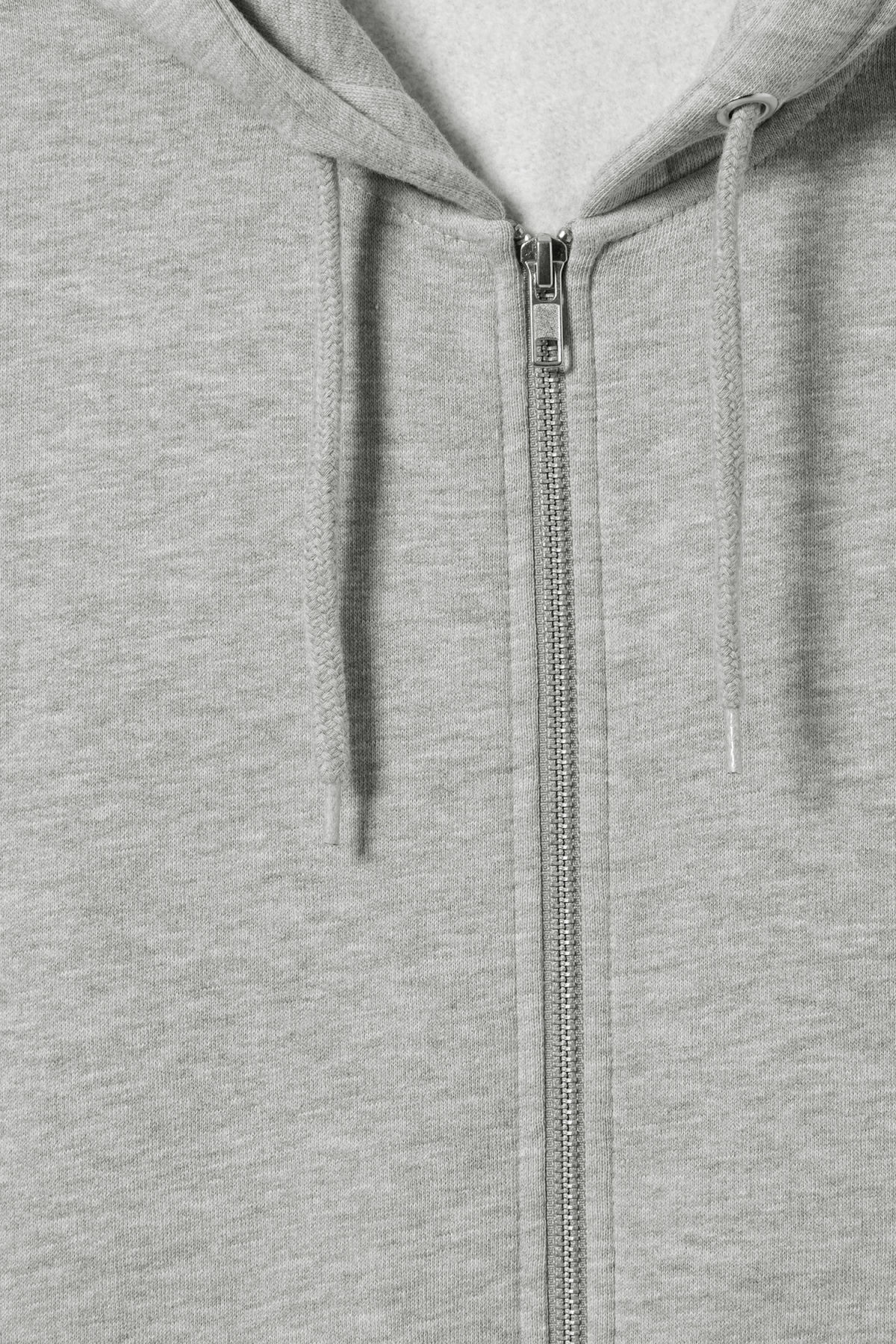 Detailed image of Weekday boom zipped hoodie in grey