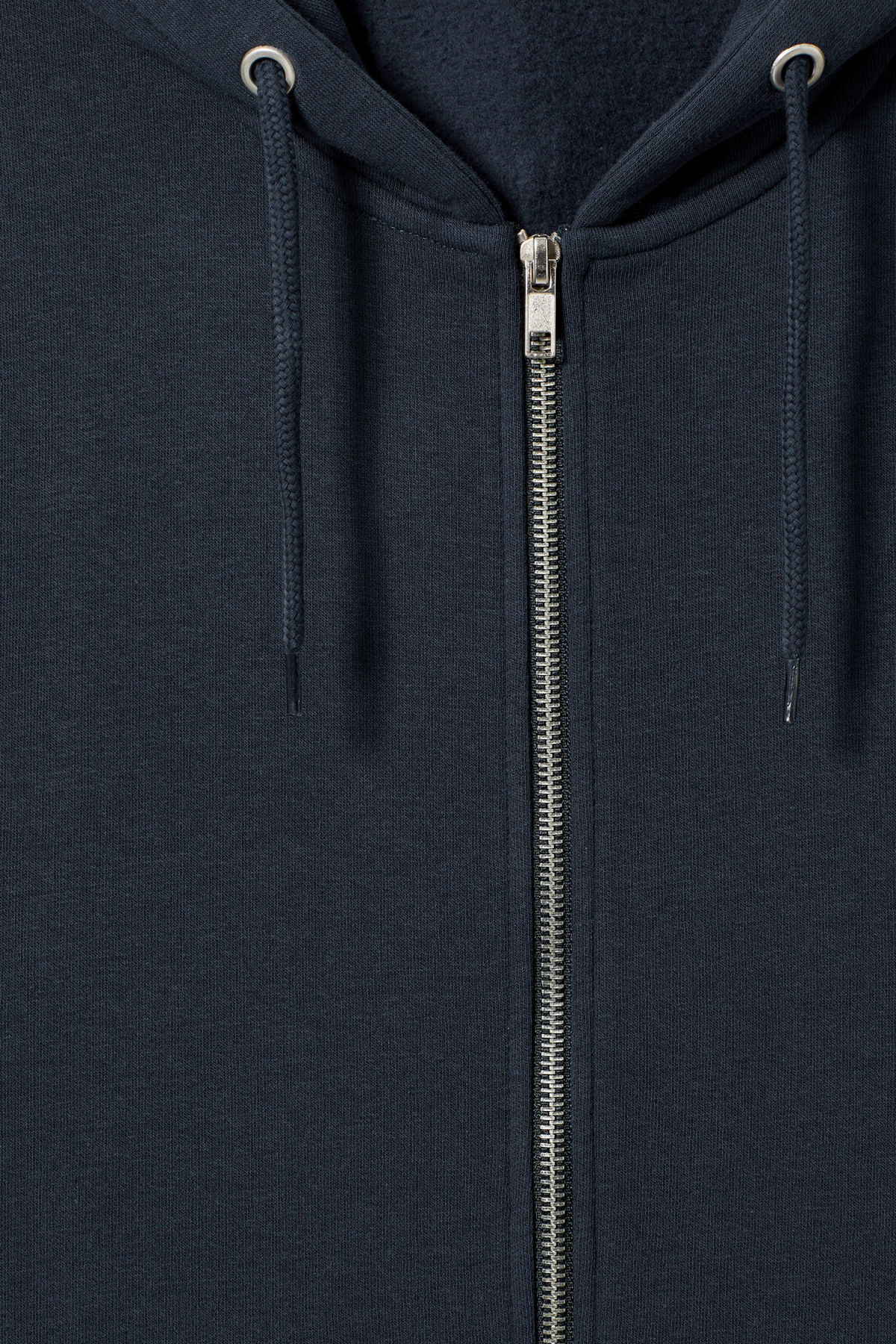 Detailed image of Weekday boom zipped hoodie in blue