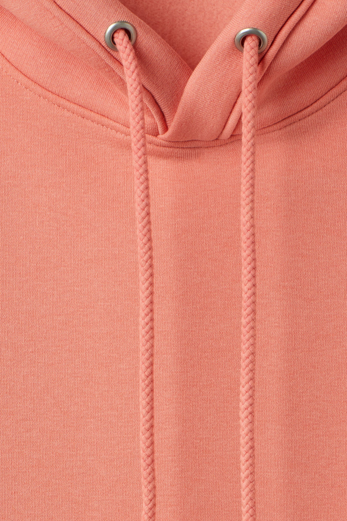 Detailed image of Weekday ailin hooded sweatshirt in orange