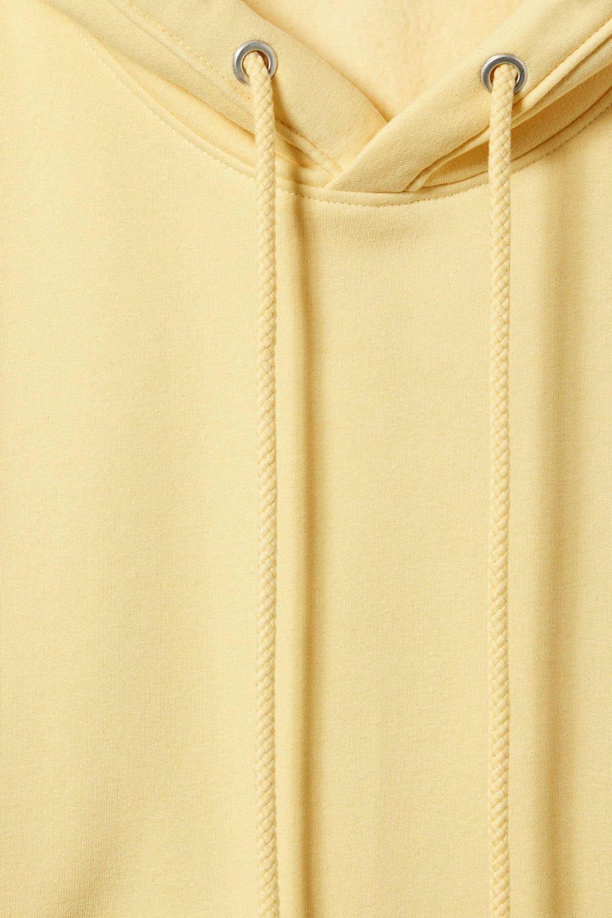 Detailed image of Weekday ailin hooded sweatshirt in yellow