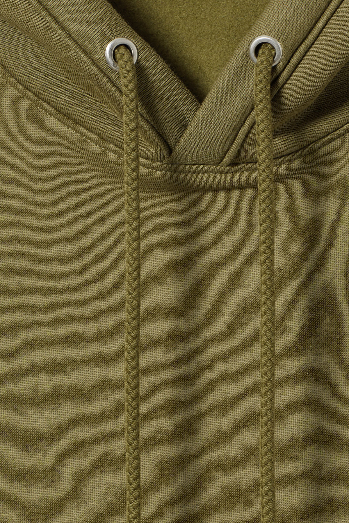 Detailed image of Weekday ailin hooded sweatshirt in green