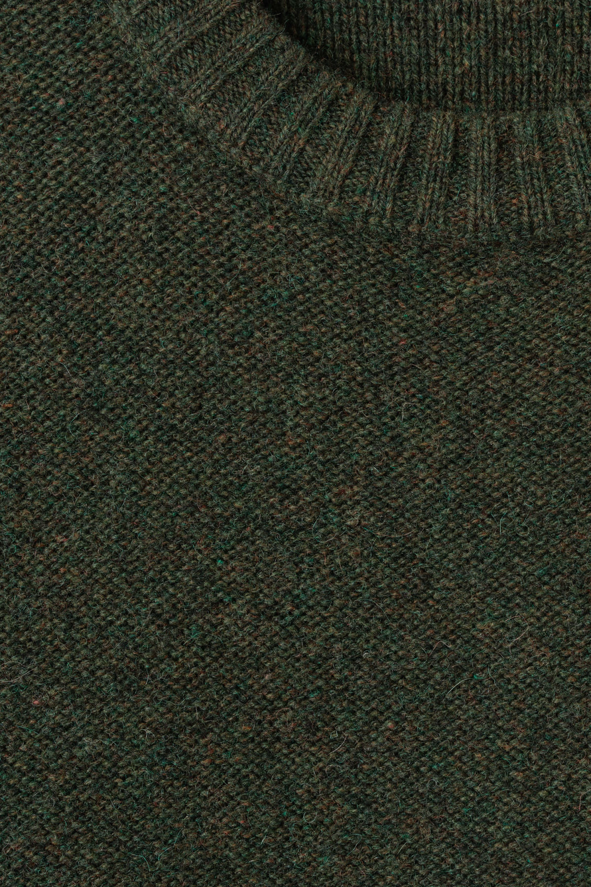 Detailed image of Weekday knit sweater  in green