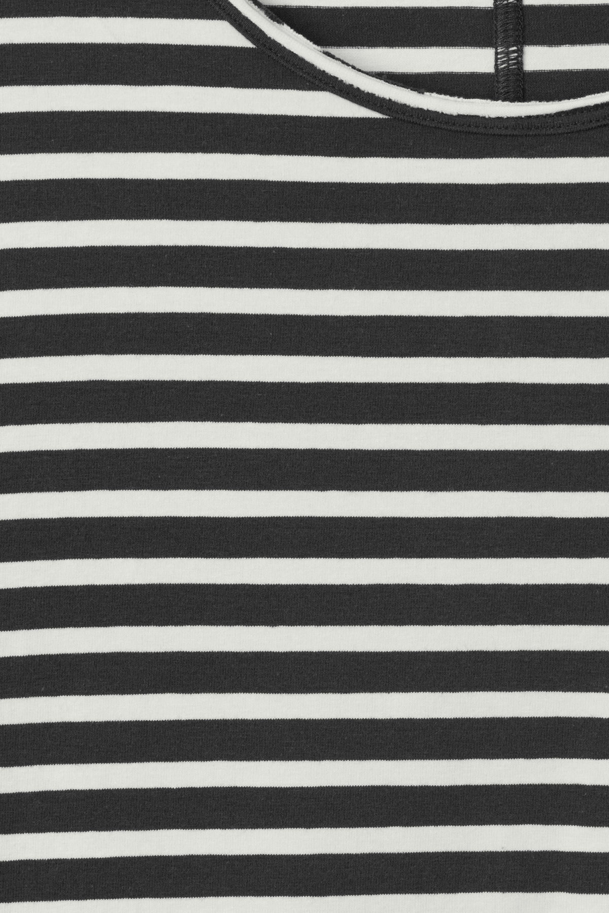 Detailed image of Weekday rumour striped t-shirt in grey
