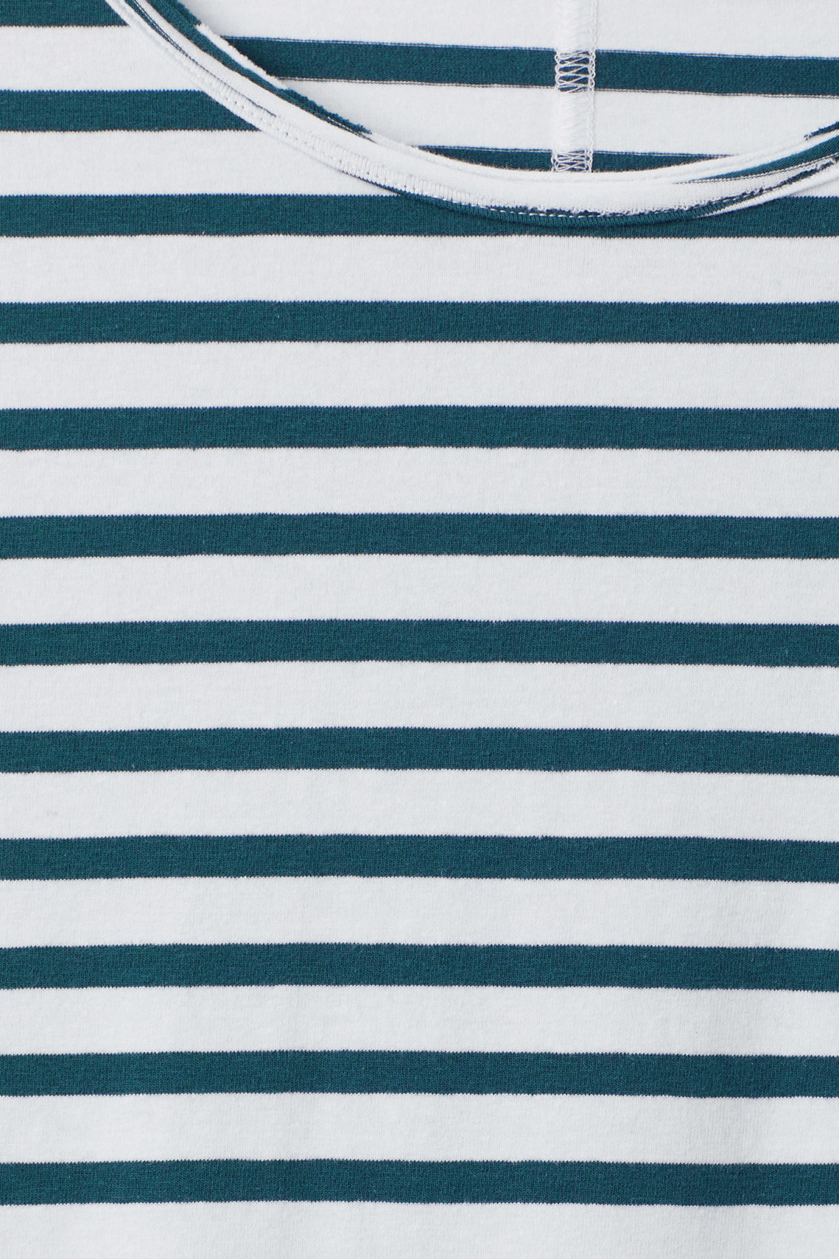 Detailed image of Weekday rumour striped t-shirt in blue