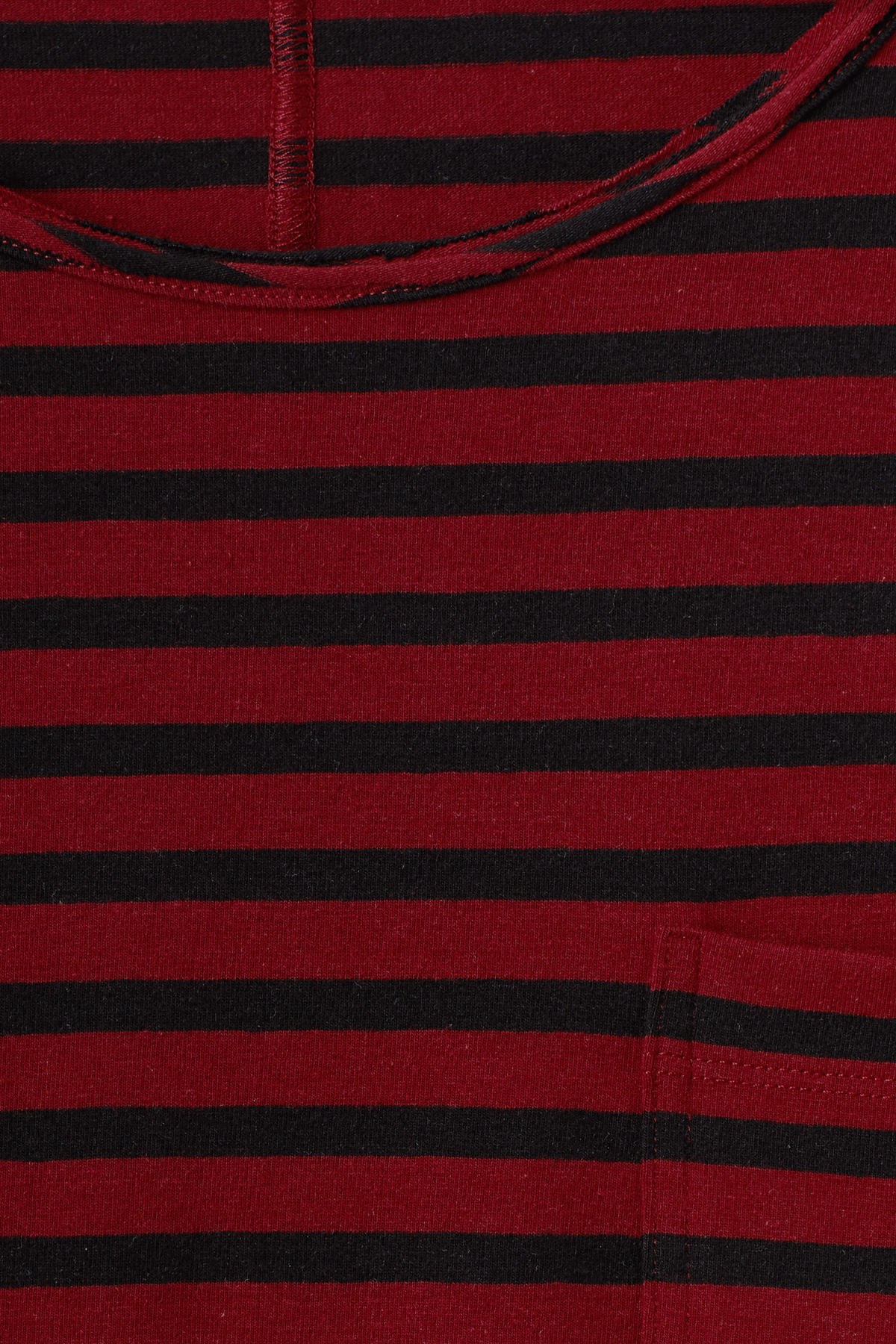 Detailed image of Weekday rumour striped t-shirt in red