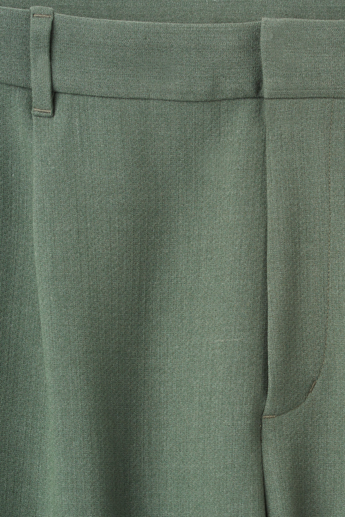 Detailed image of Weekday mard trousers in green