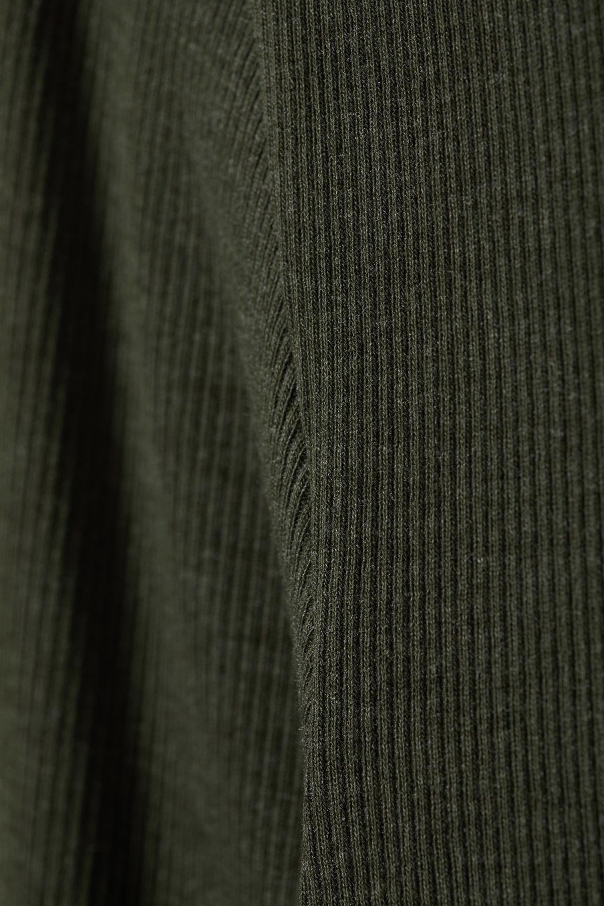 Detailed image of Weekday turtle rib long sleeve in green