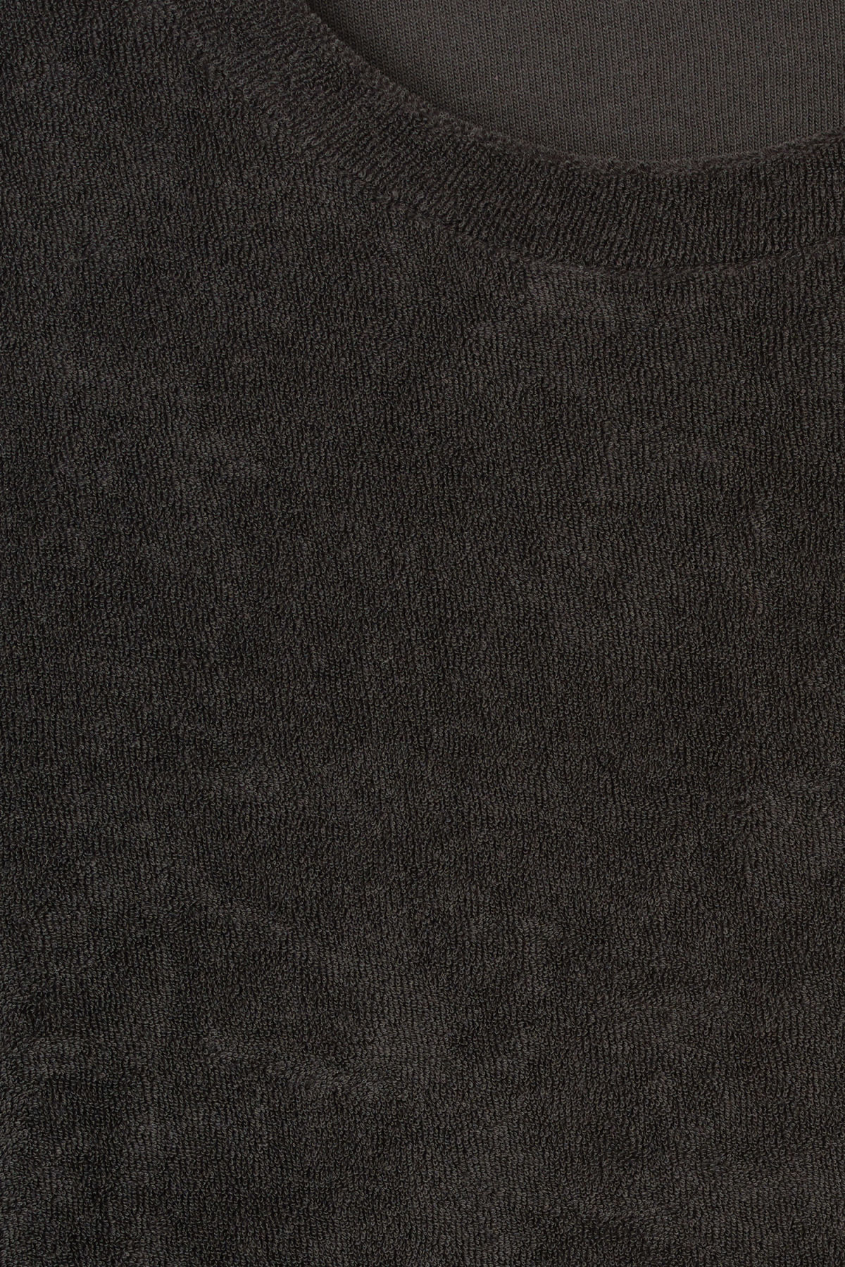 Detailed image of Weekday towel long sleeve in black