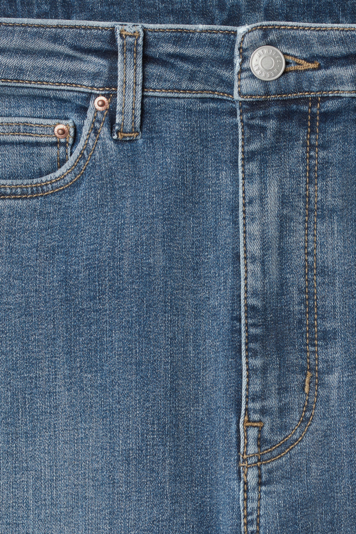 Detailed image of Weekday body high peer blue jeans in blue