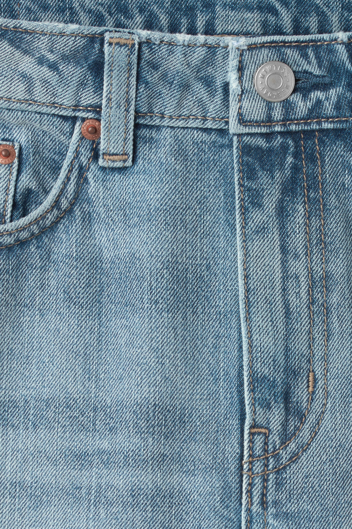 Detailed image of Weekday voyage wow blue jeans in blue