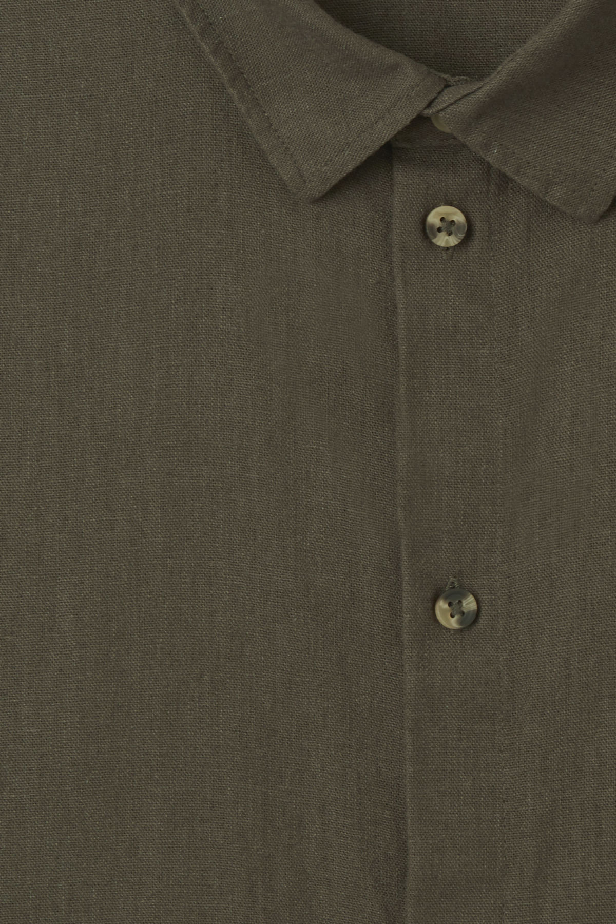 Detailed image of Weekday lead linen shirt in green