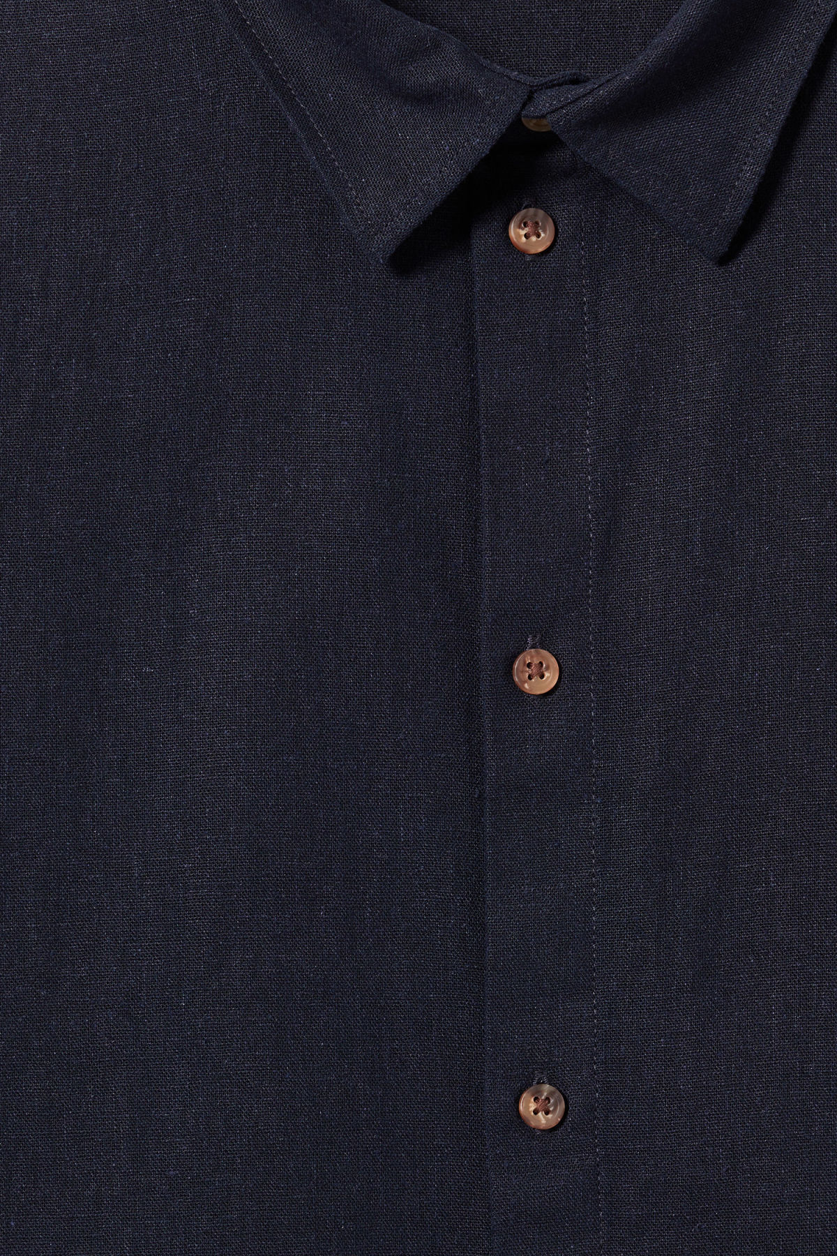 Detailed image of Weekday lead linen shirt in blue
