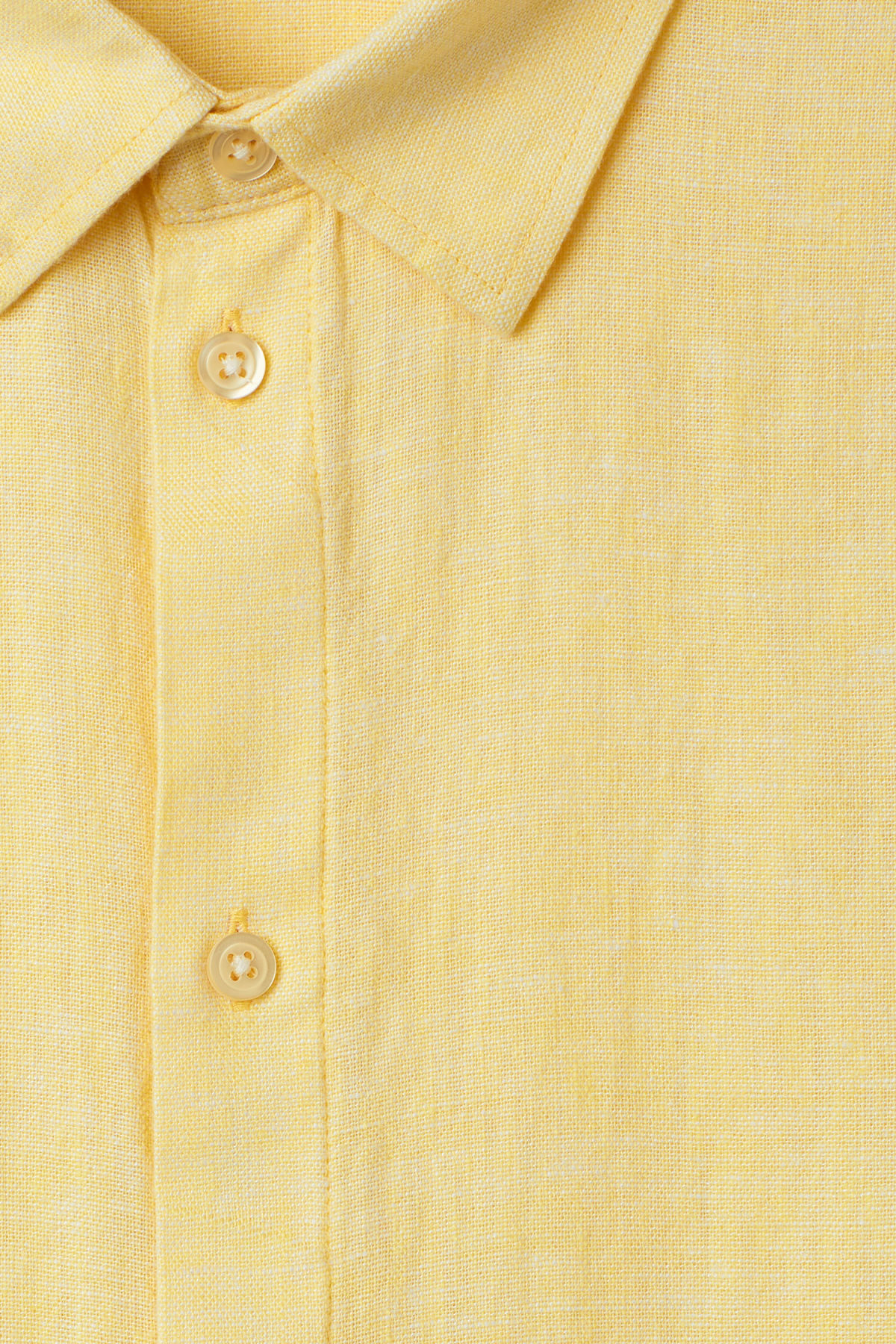 Detailed image of Weekday lead linen shirt in yellow