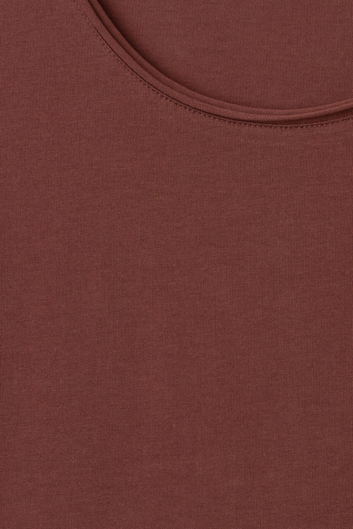 Detailed image of Weekday dark t-shirt in brown