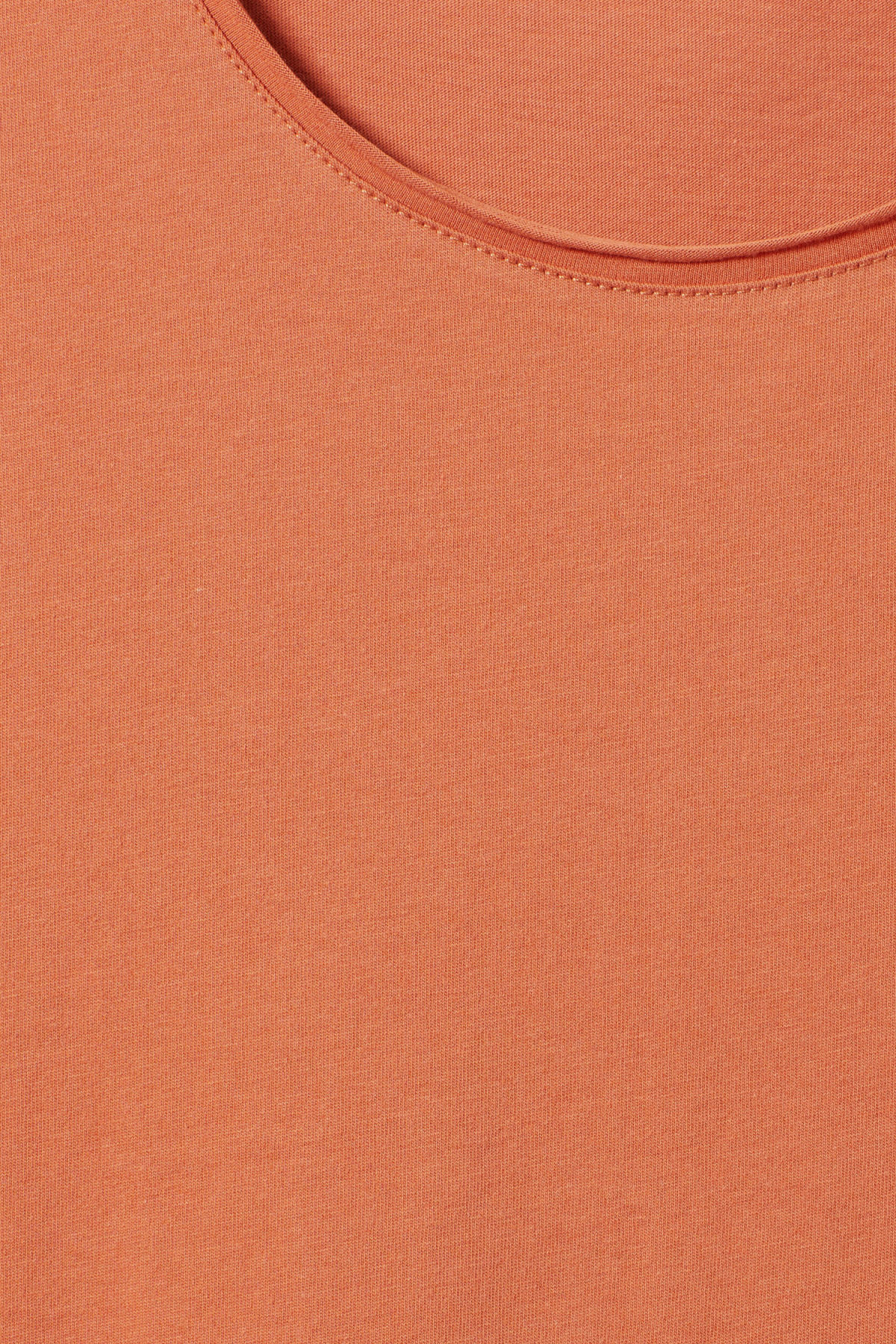 Detailed image of Weekday dark t-shirt in orange
