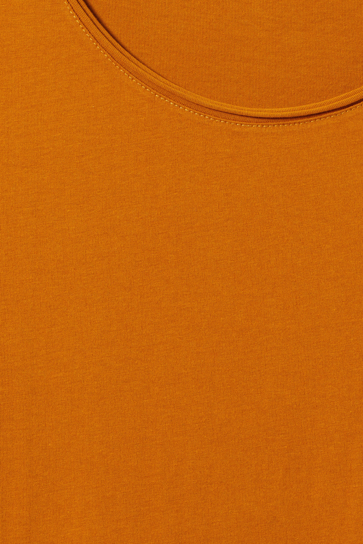 Detailed image of Weekday dark t-shirt in yellow