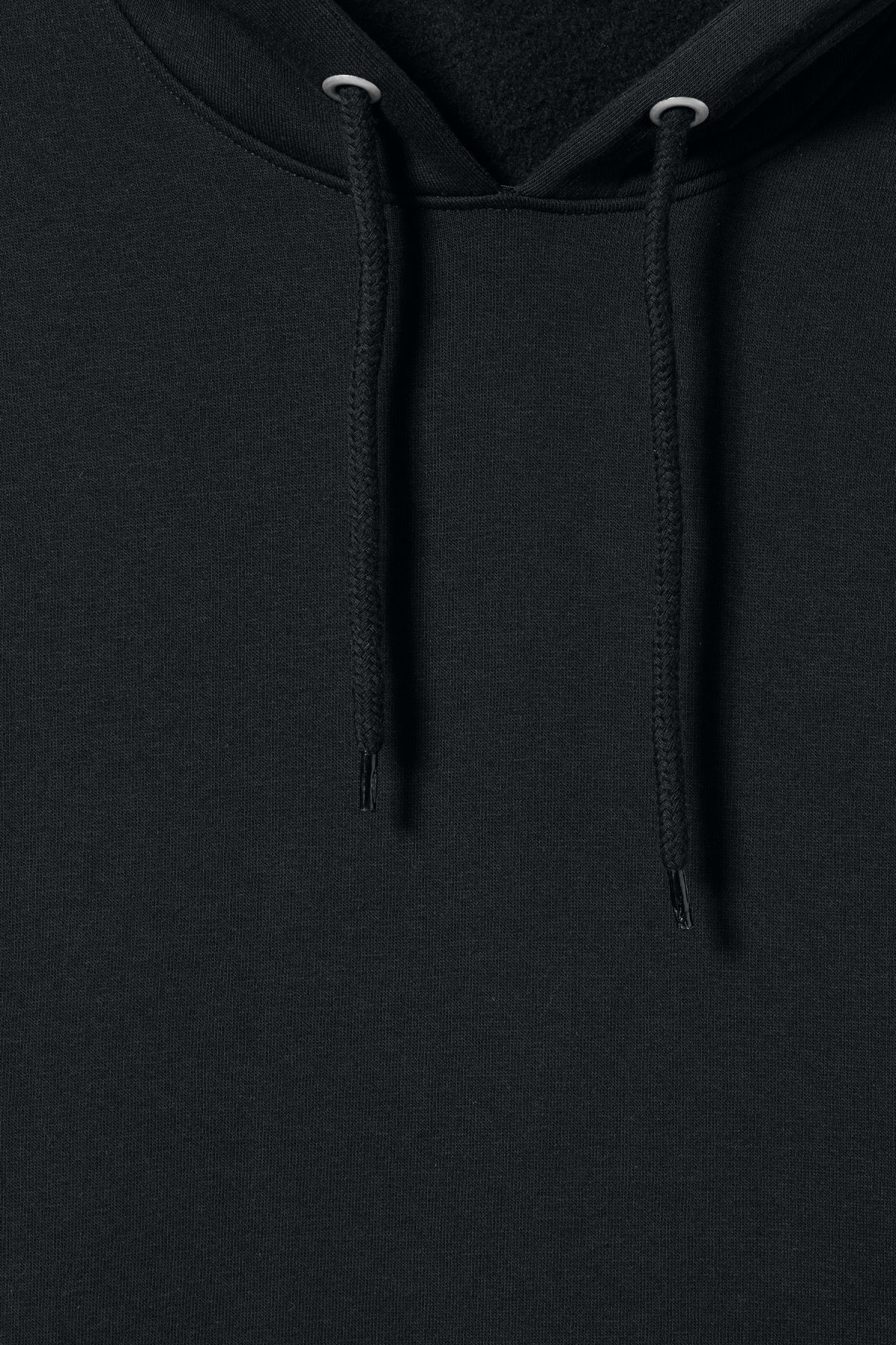 Detailed image of Weekday big hawk hoodie in black