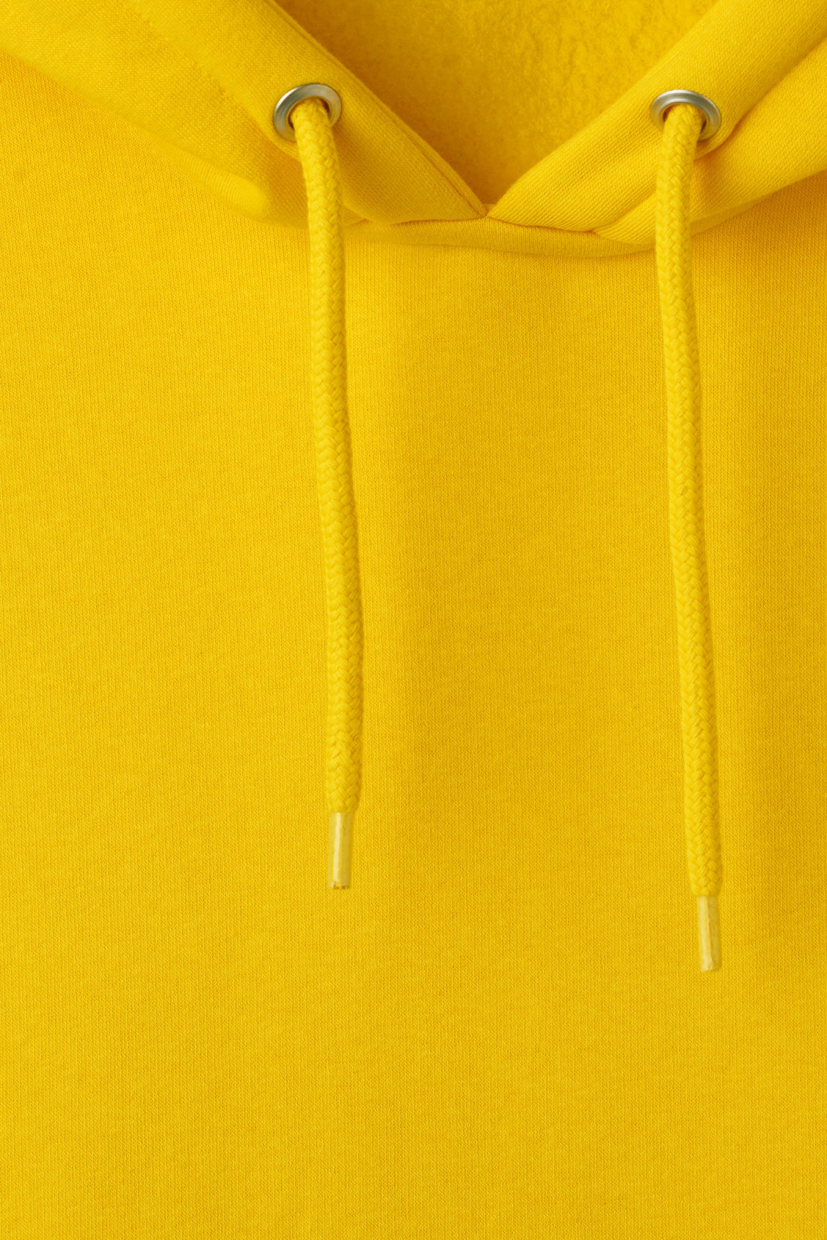 Detailed image of Weekday big hawk hoodie in yellow