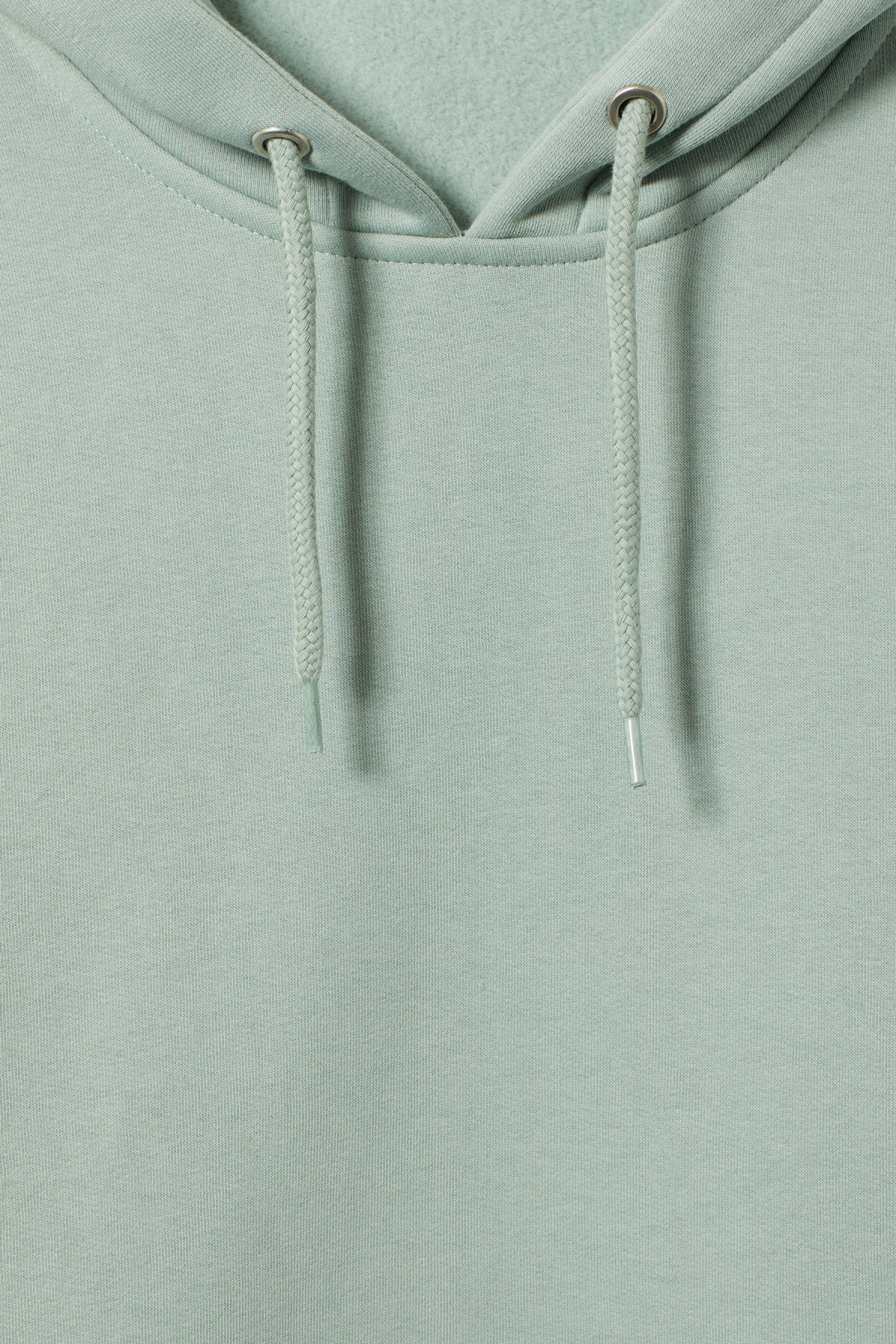 Detailed image of Weekday big hawk hoodie in turquoise