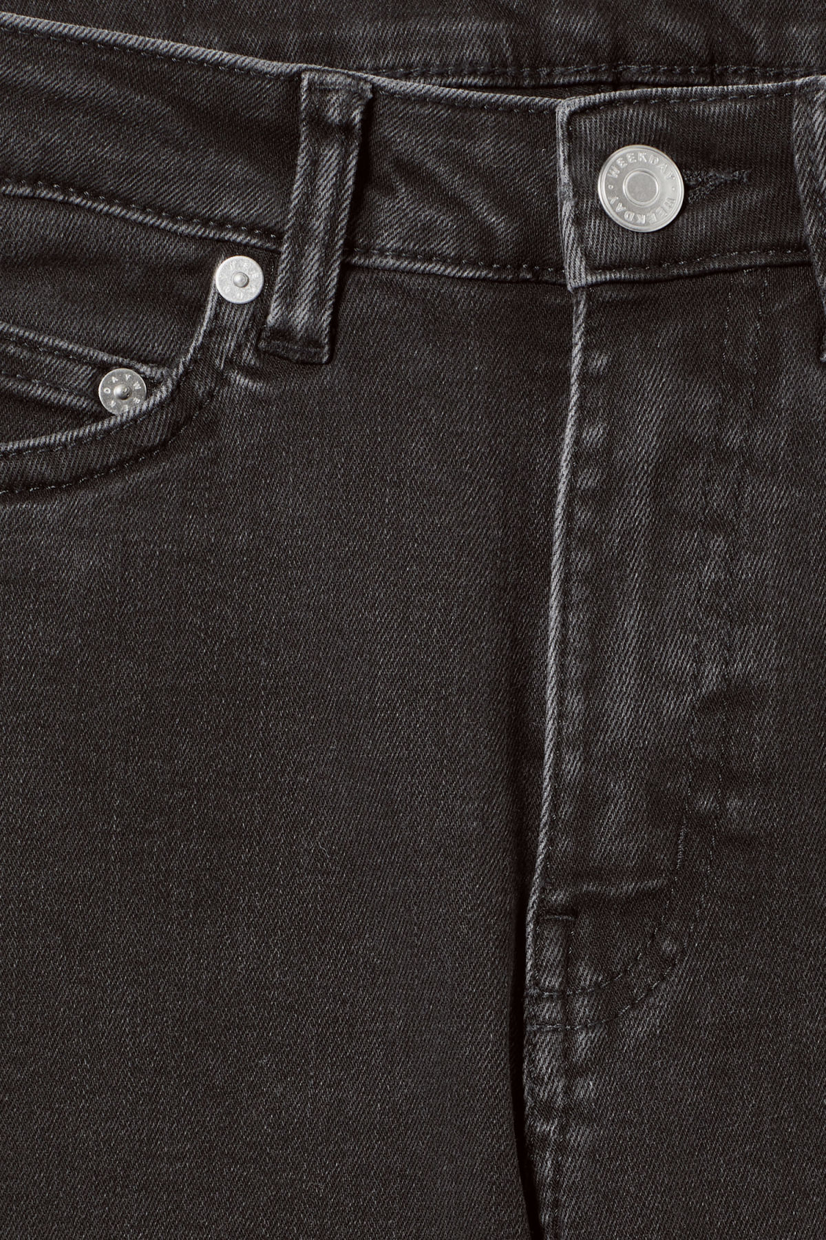 Detailed image of Weekday thursday tuned black jeans in black