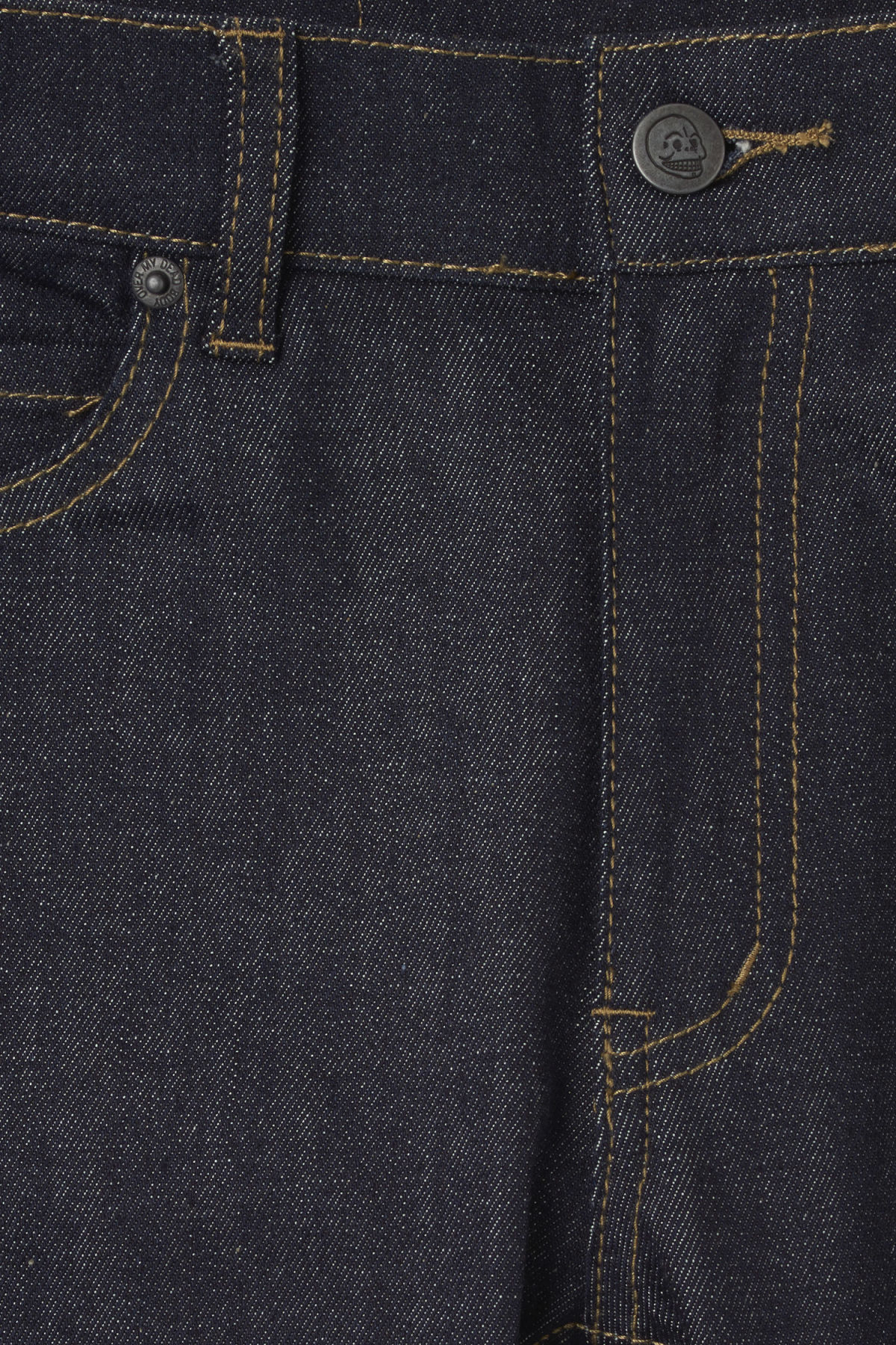 Detailed image of Weekday tight blue dry jeans in blue