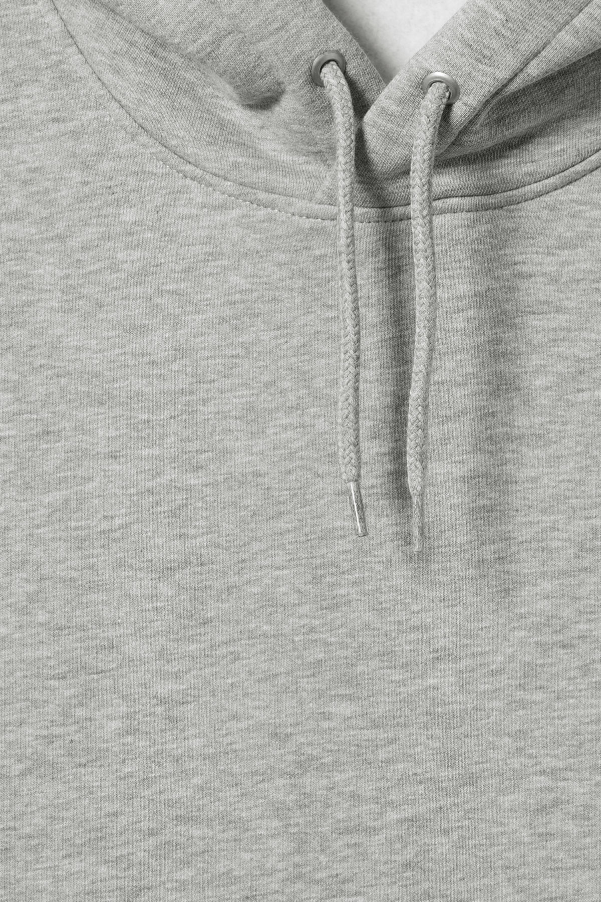 Detailed image of Weekday hawk hoodie in grey