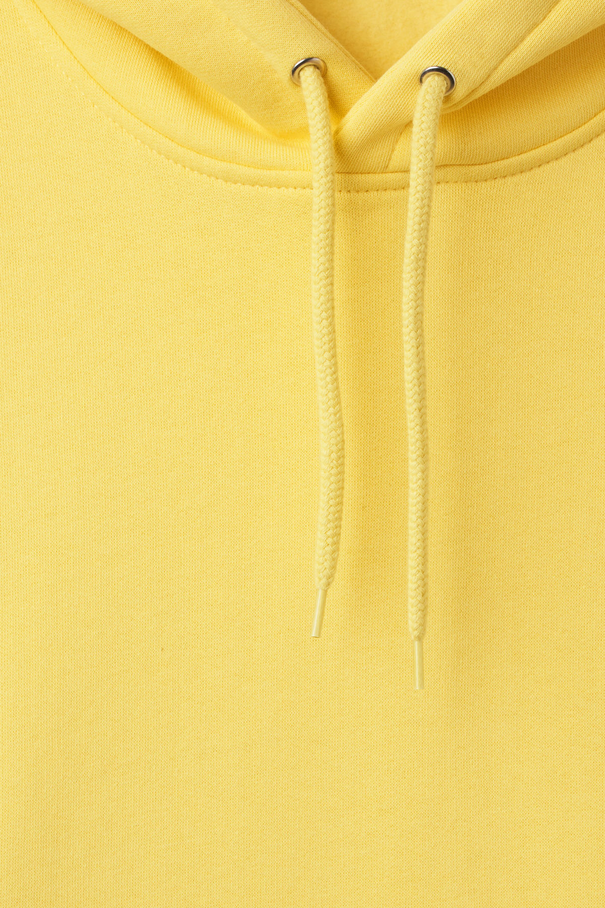 Detailed image of Weekday hawk hoodie in yellow