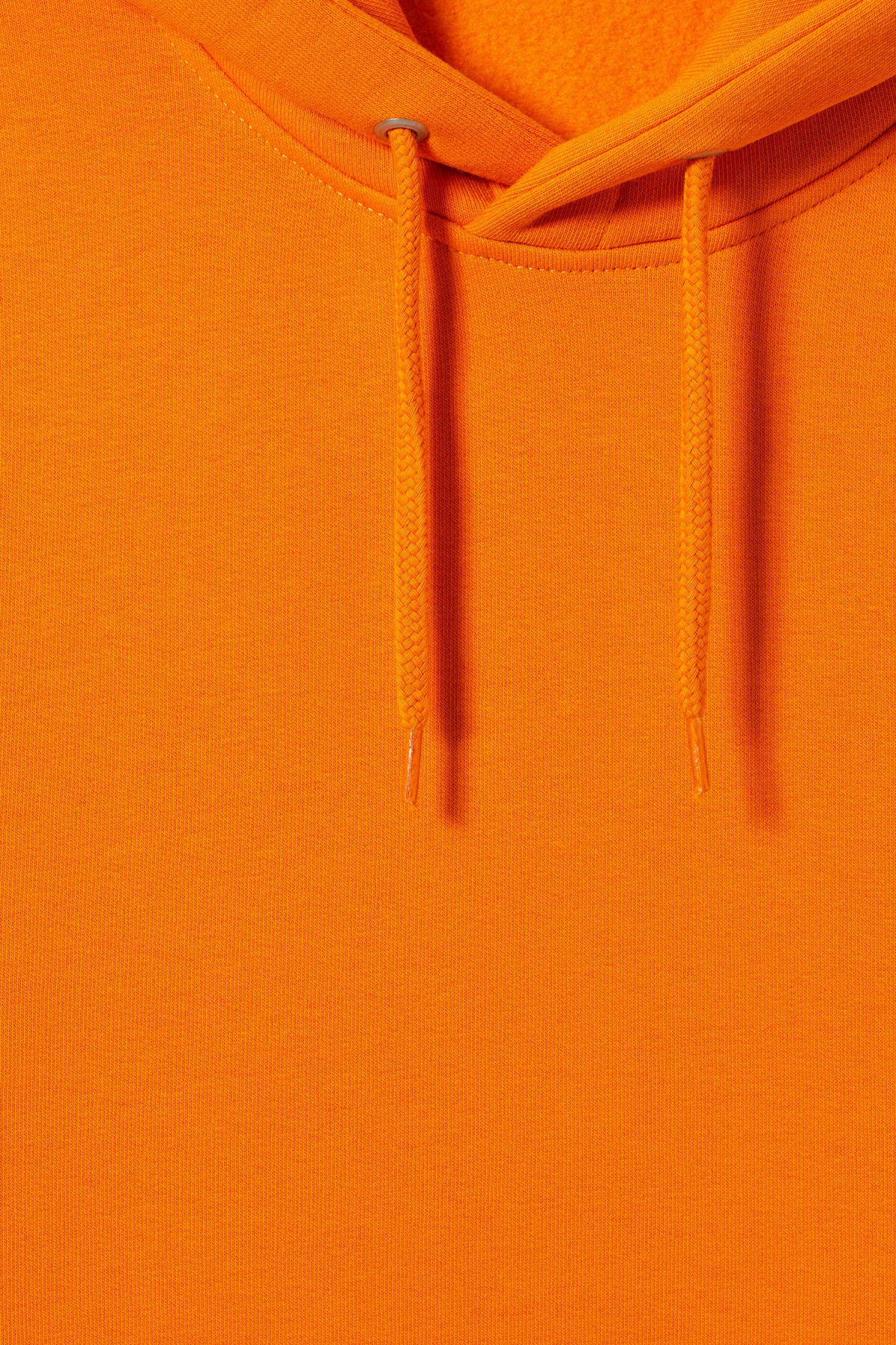Detailed image of Weekday hawk hoodie in orange