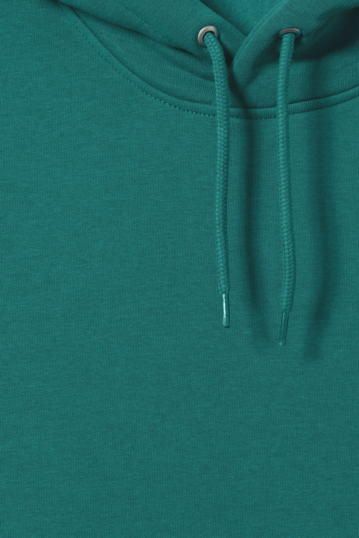 Detailed image of Weekday hawk hoodie in turquoise
