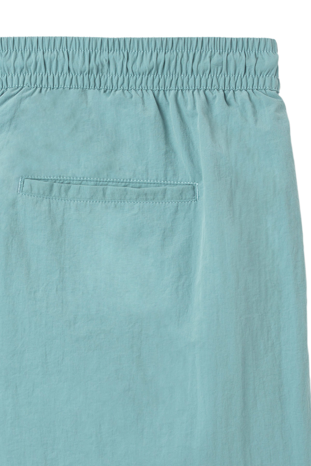 Detailed image of Weekday tan structure swim shorts in turquoise