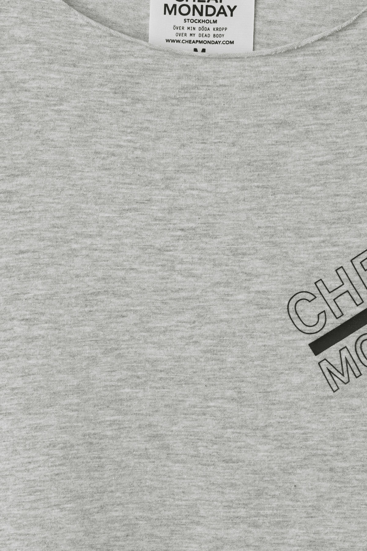 Detailed image of Weekday standard edge t-shirt in grey