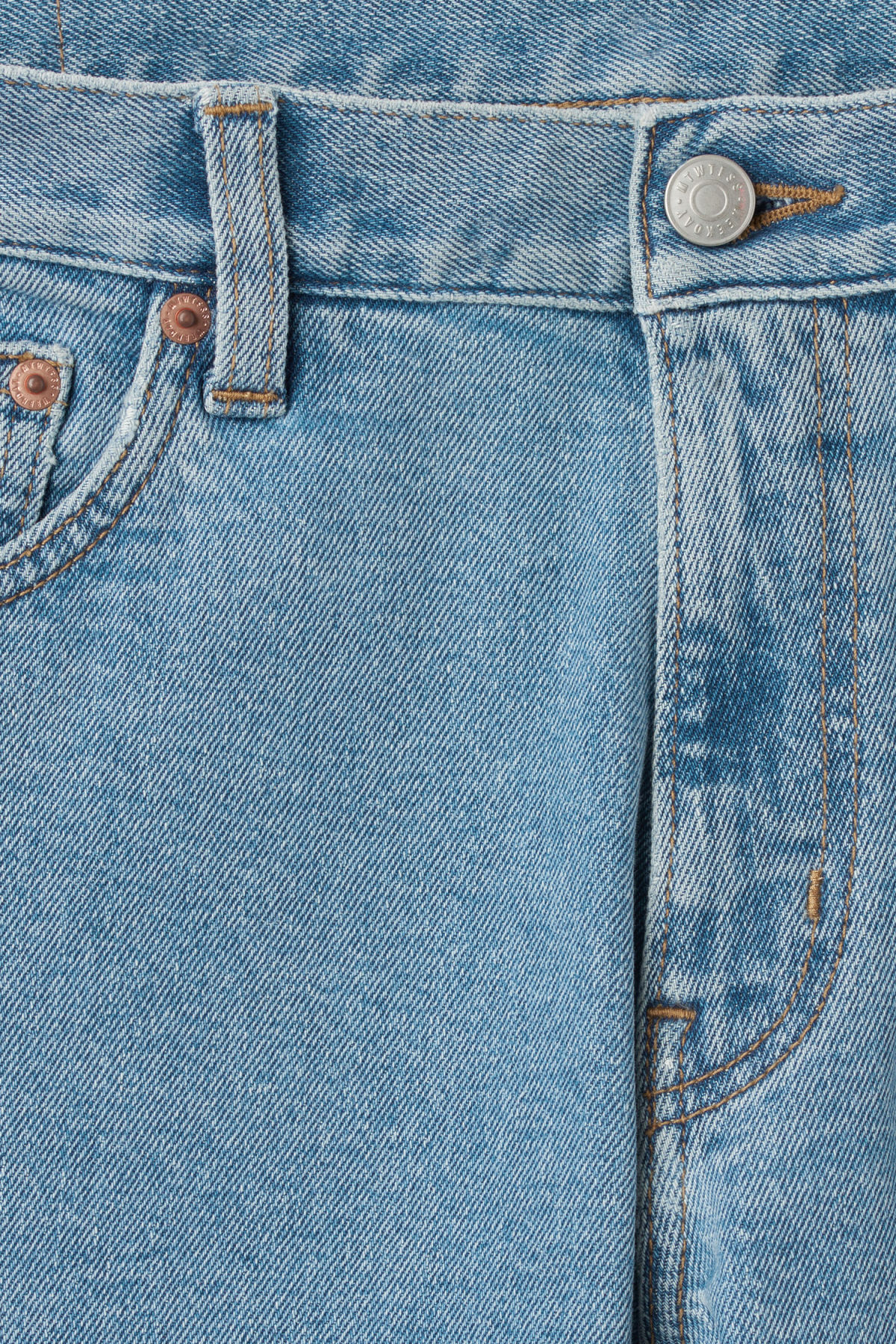 Detailed image of Weekday friday cash jeans in blue