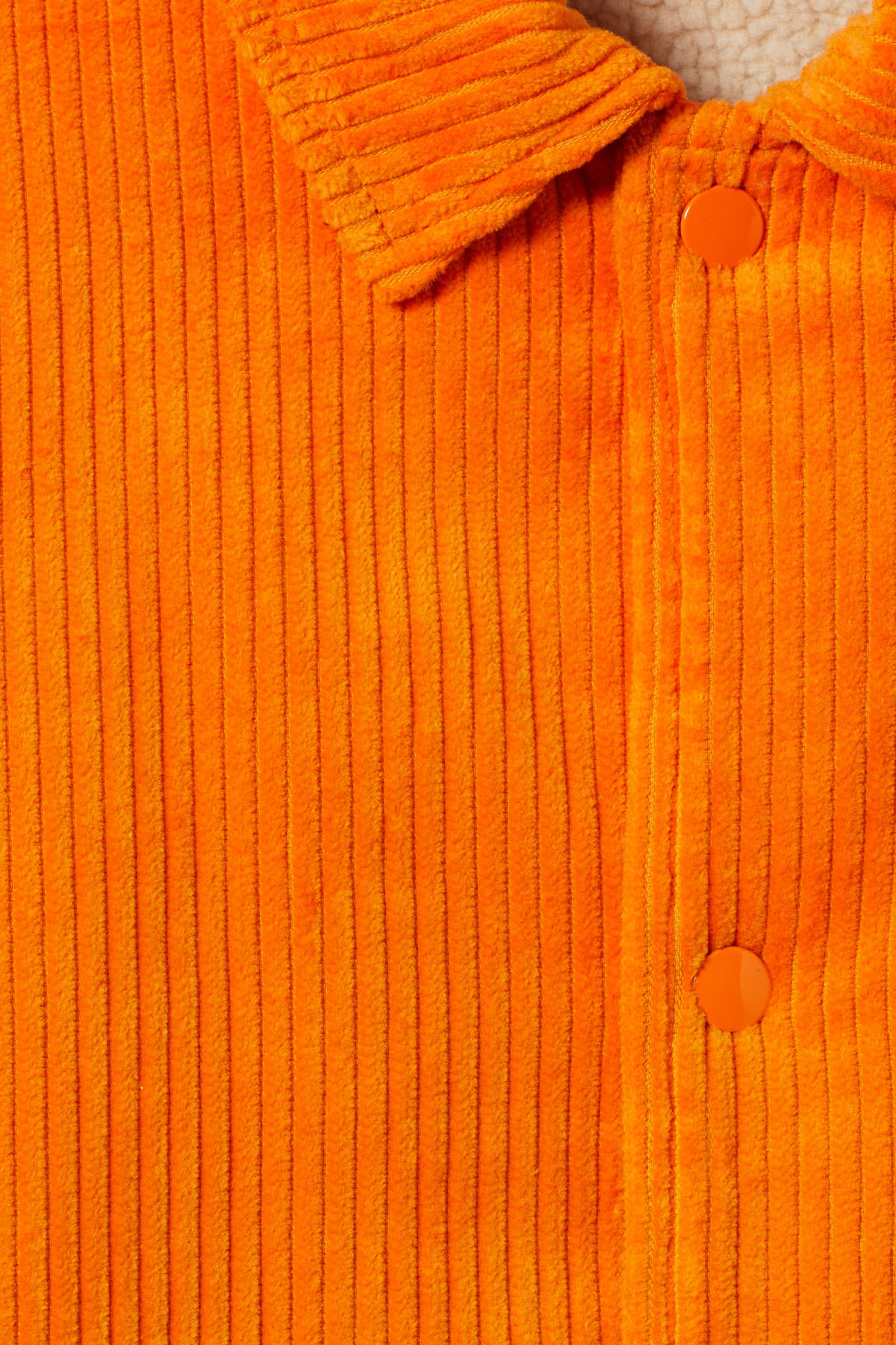 Detailed image of Weekday bob coach jacket  in orange